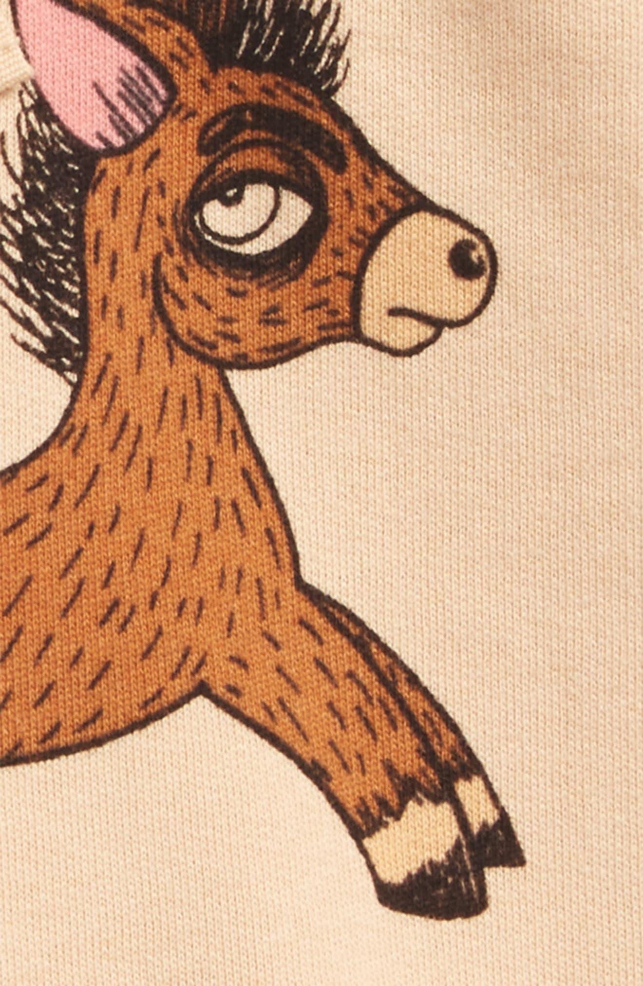 Donkey Print Organic Cotton Sweat Shorts,                             Alternate thumbnail 2, color,                             250