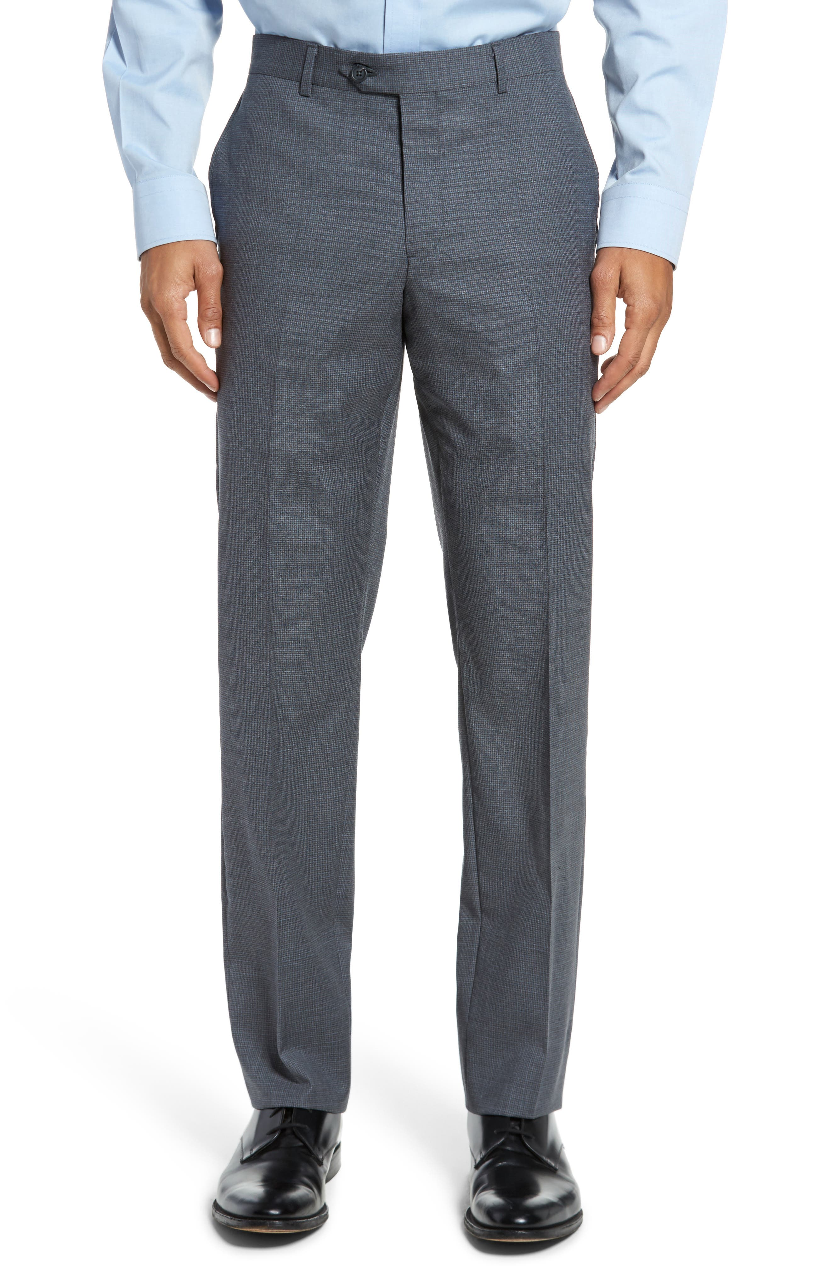 Classic Fit Check Wool Suit,                             Alternate thumbnail 17, color,
