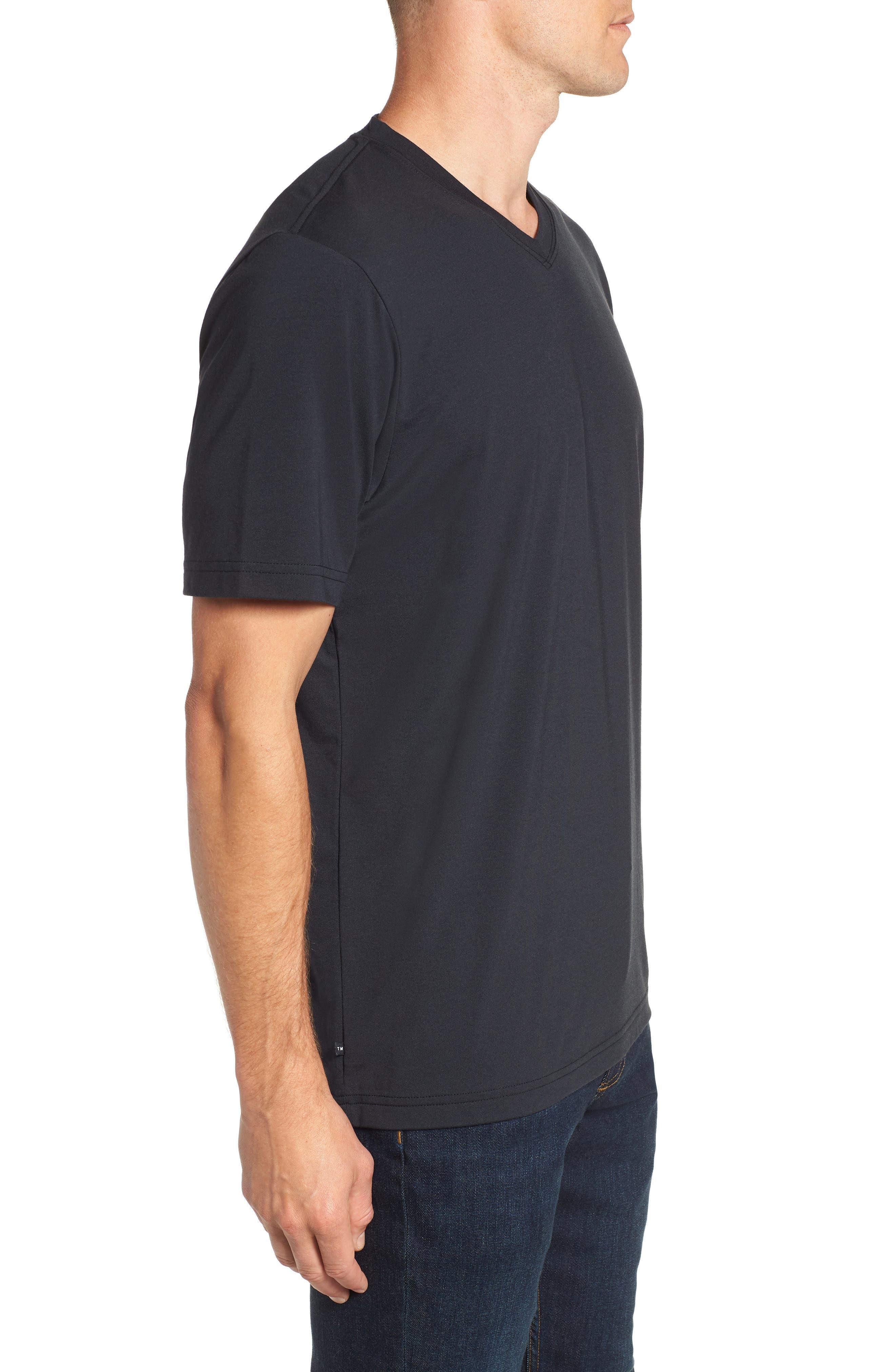 Potholder V-Neck T-Shirt,                             Alternate thumbnail 3, color,                             BLACK