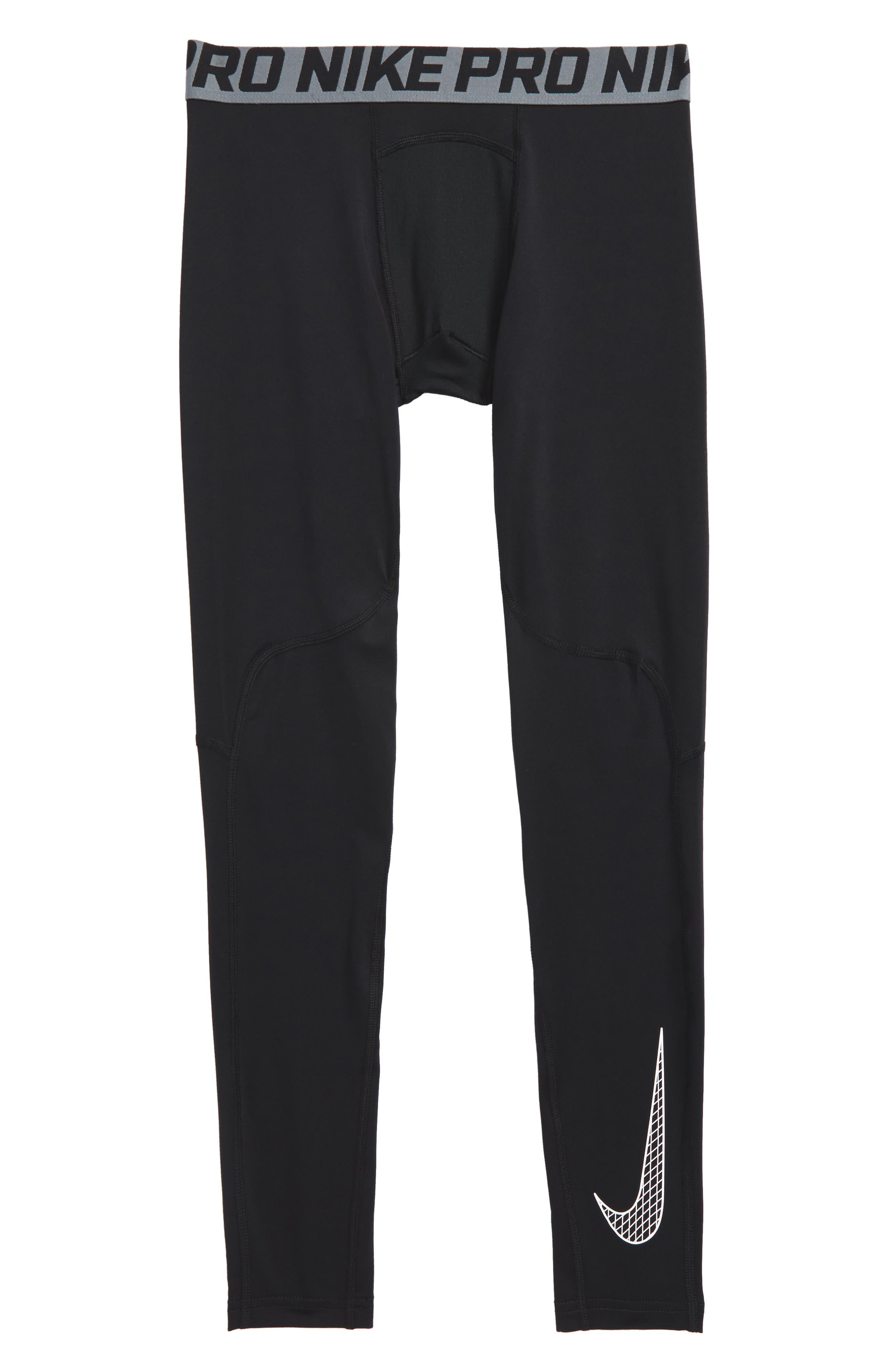Pro Cool Sport Leggings,                         Main,                         color, BLACK/ WHITE