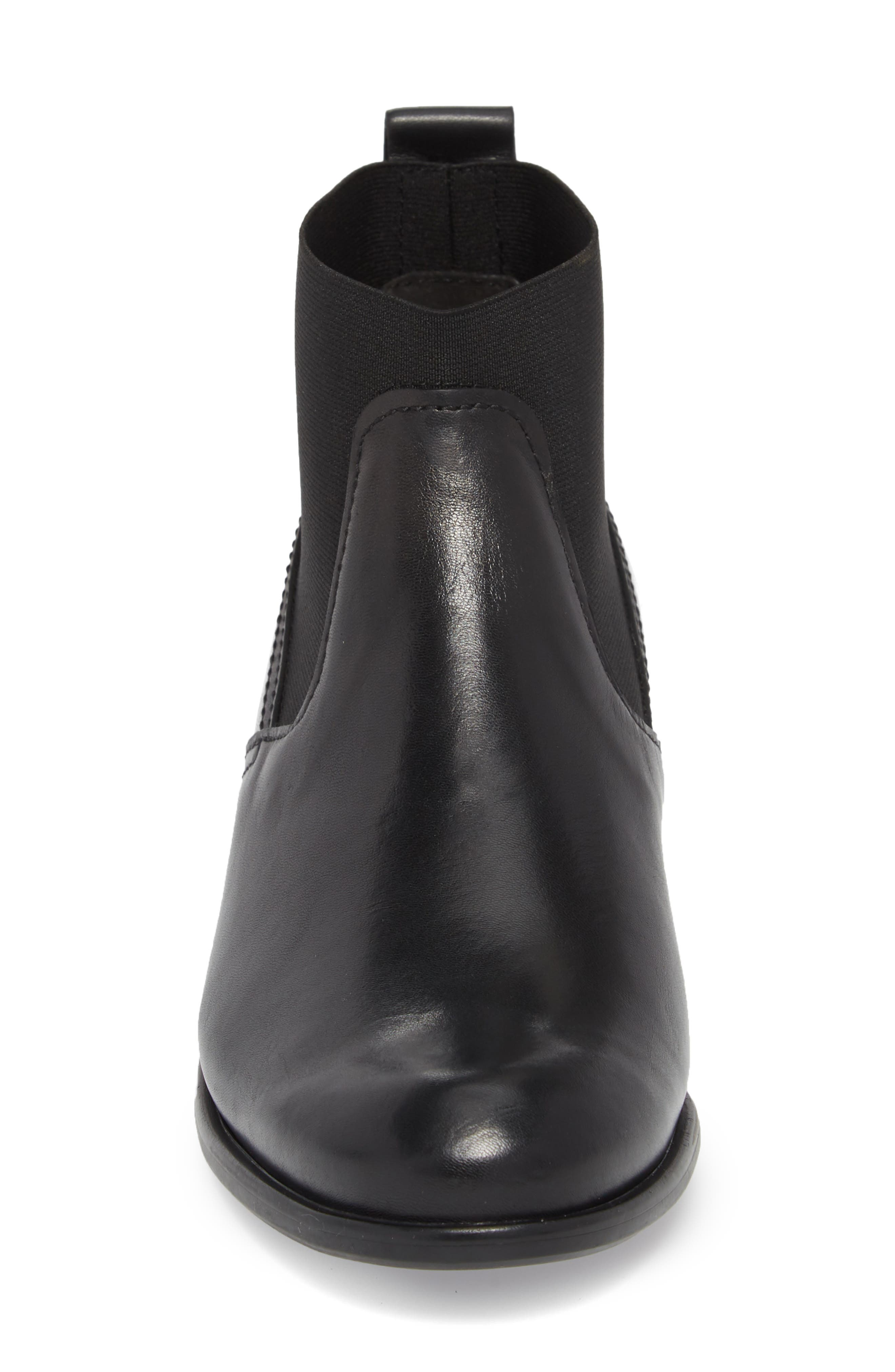 Ana Bootie,                             Alternate thumbnail 4, color,                             BLACK LEATHER