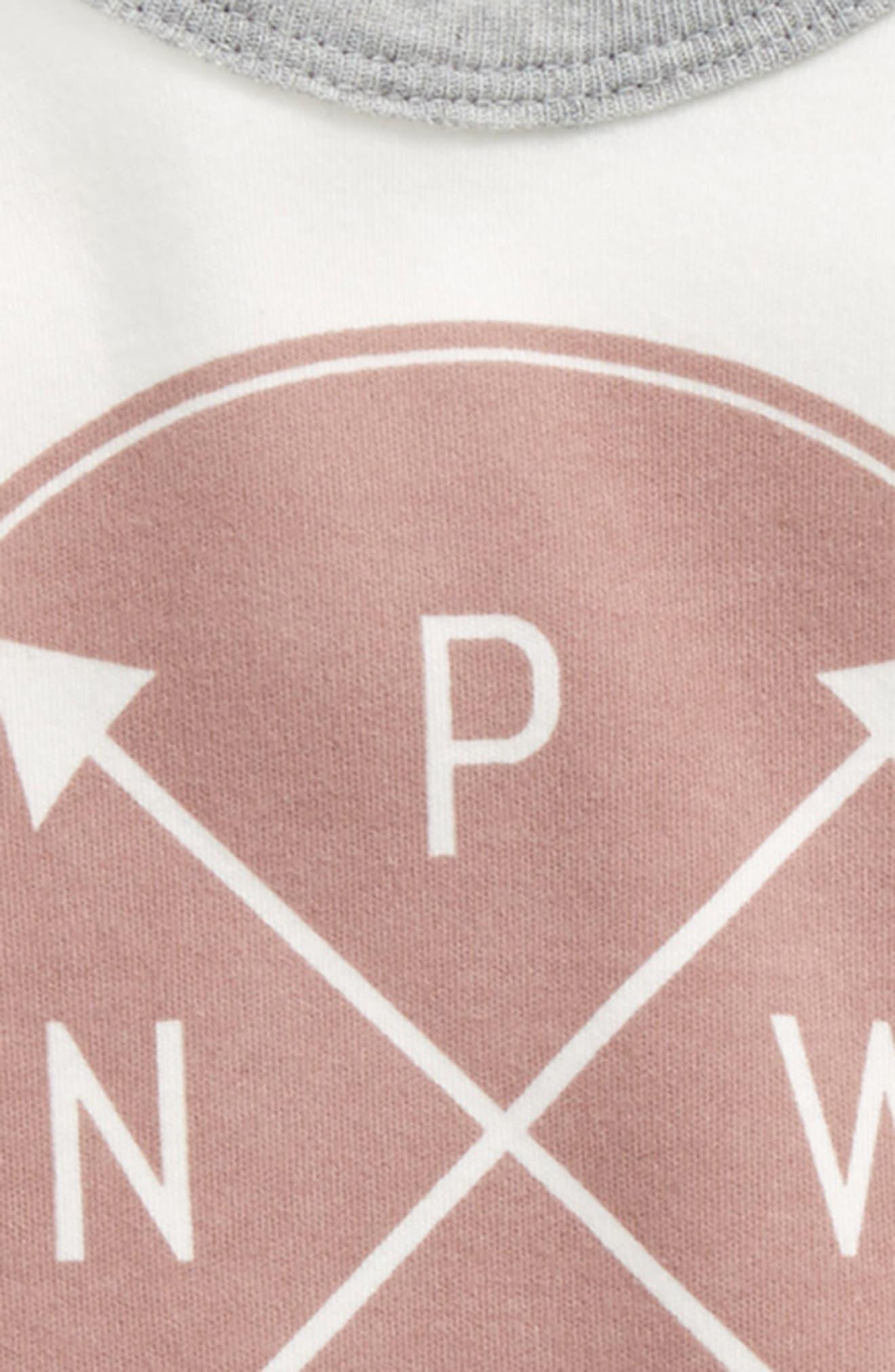 Logo Graphic Bodysuit,                             Alternate thumbnail 2, color,                             OFF WHITE/ WOODROSE