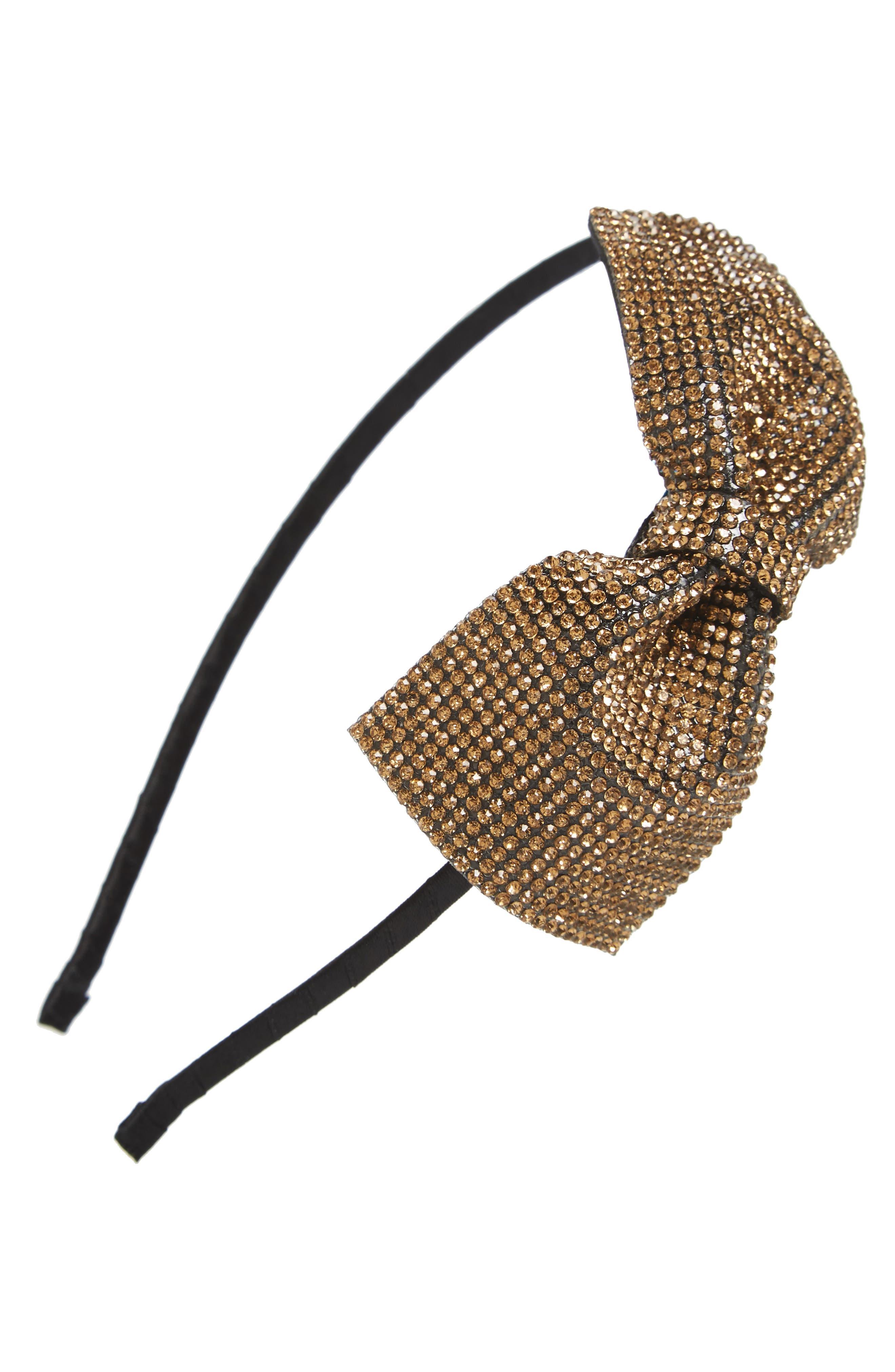 Sparkle Bow Headband,                             Main thumbnail 3, color,