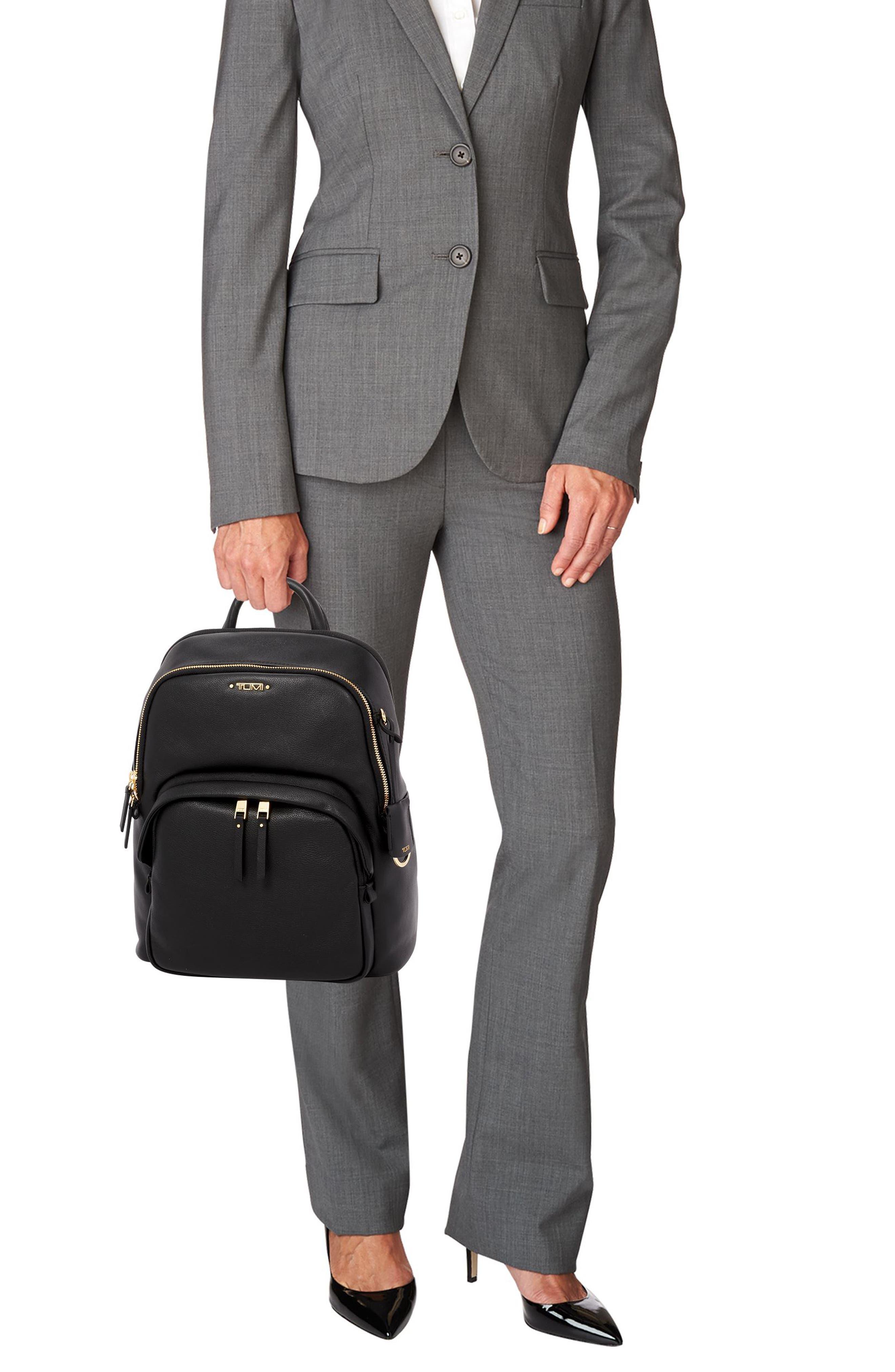 Voyageur - Dori Leather Backpack,                             Alternate thumbnail 2, color,                             BLACK