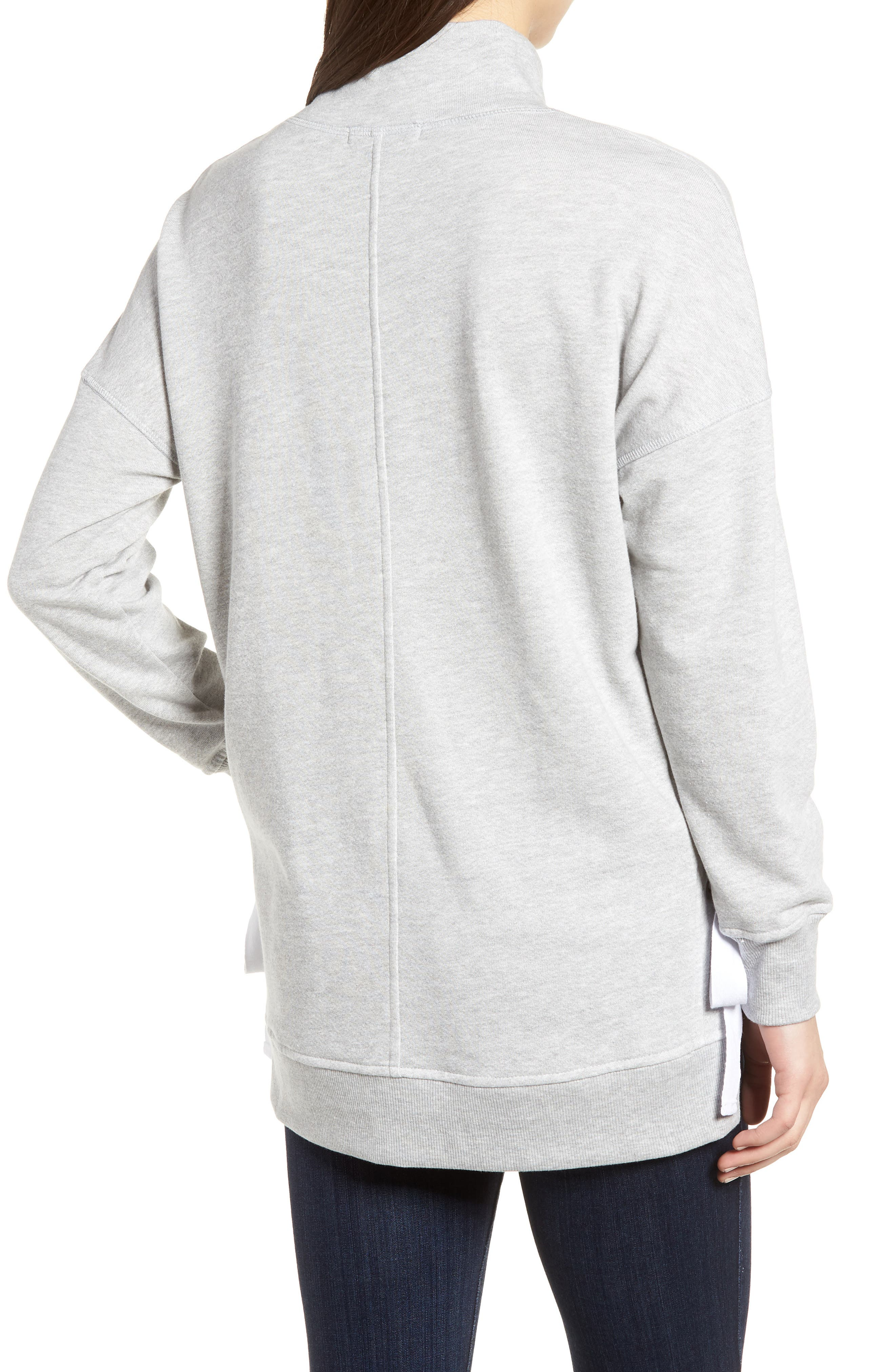 Side Tie High Neck Sweatshirt,                             Alternate thumbnail 2, color,                             055