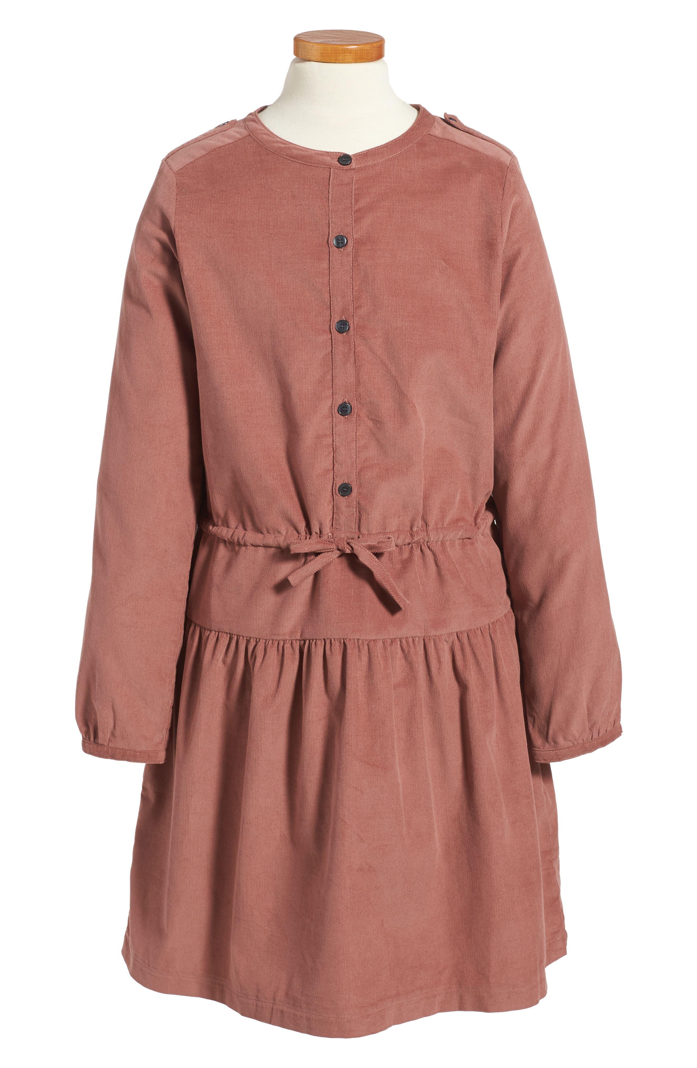 BURBERRY Celestine Corduroy Dress, Main, color, 930