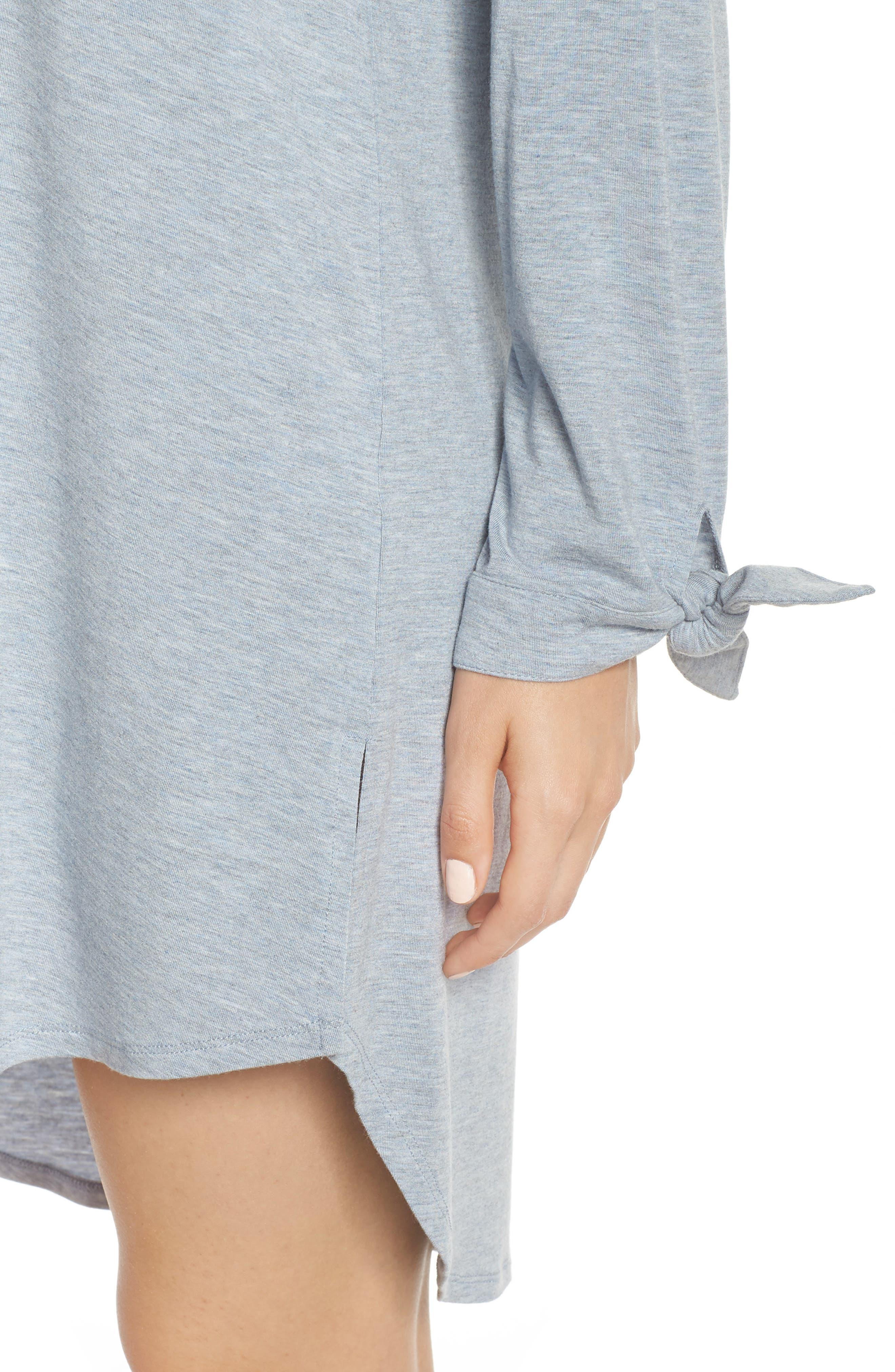 Breathe Modal Jersey Sleep Shirt,                             Alternate thumbnail 8, color,