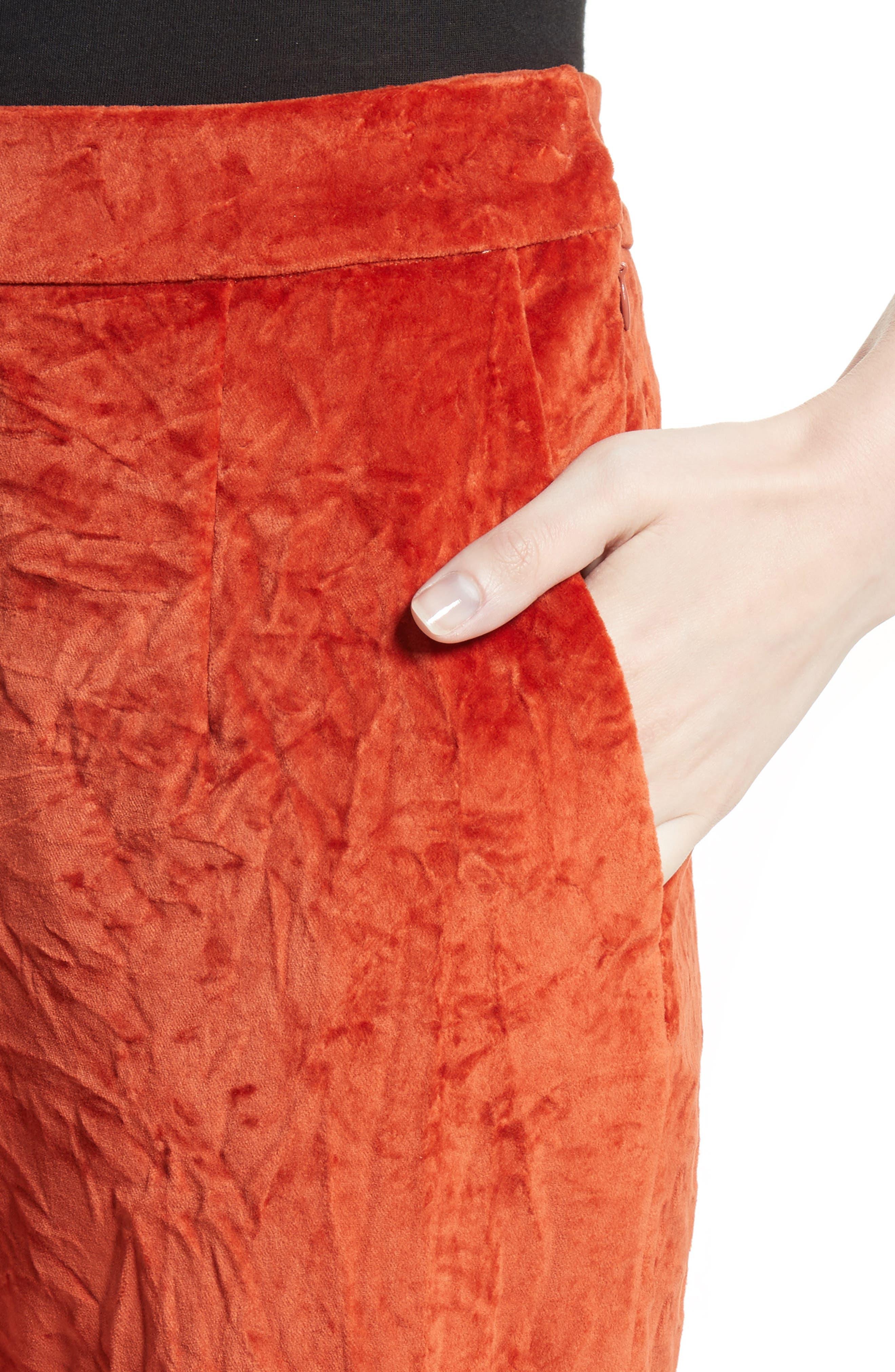 Crushed Velvet Pants,                             Alternate thumbnail 4, color,                             800