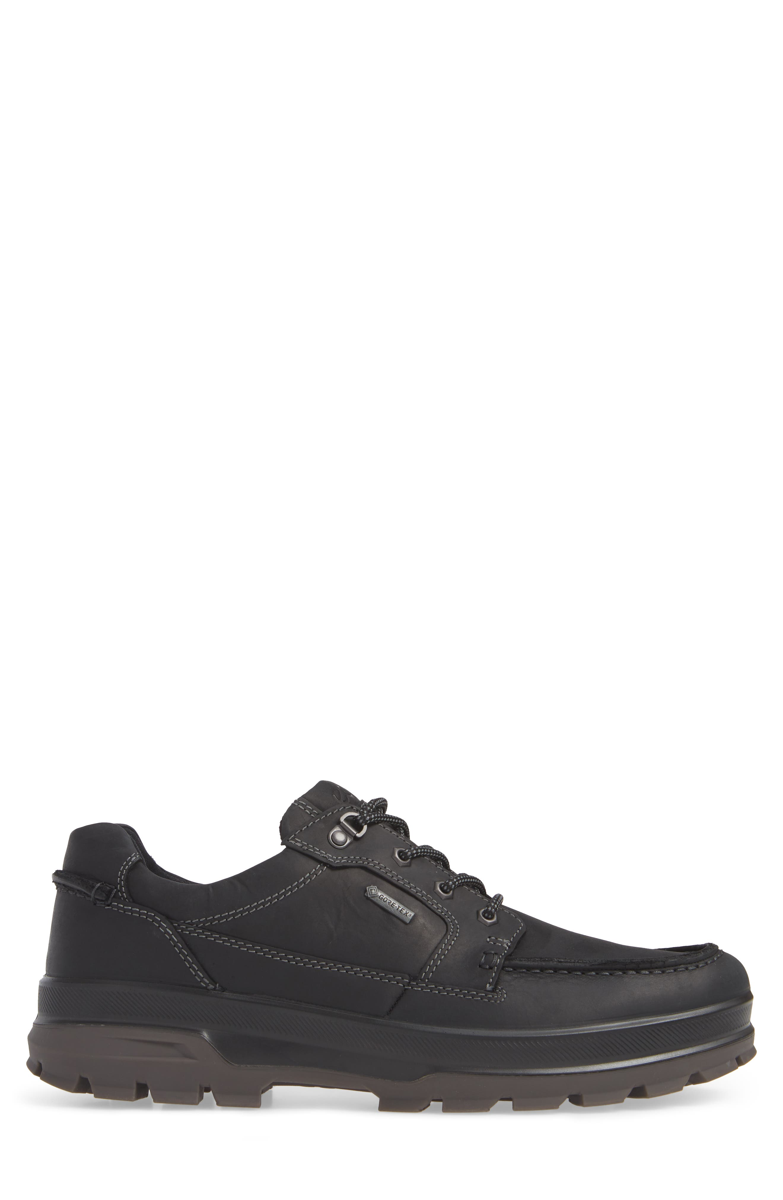 Rugged Track Low Gore-Tex<sup>®</sup> Oxford,                             Alternate thumbnail 3, color,                             BLACK LEATHER