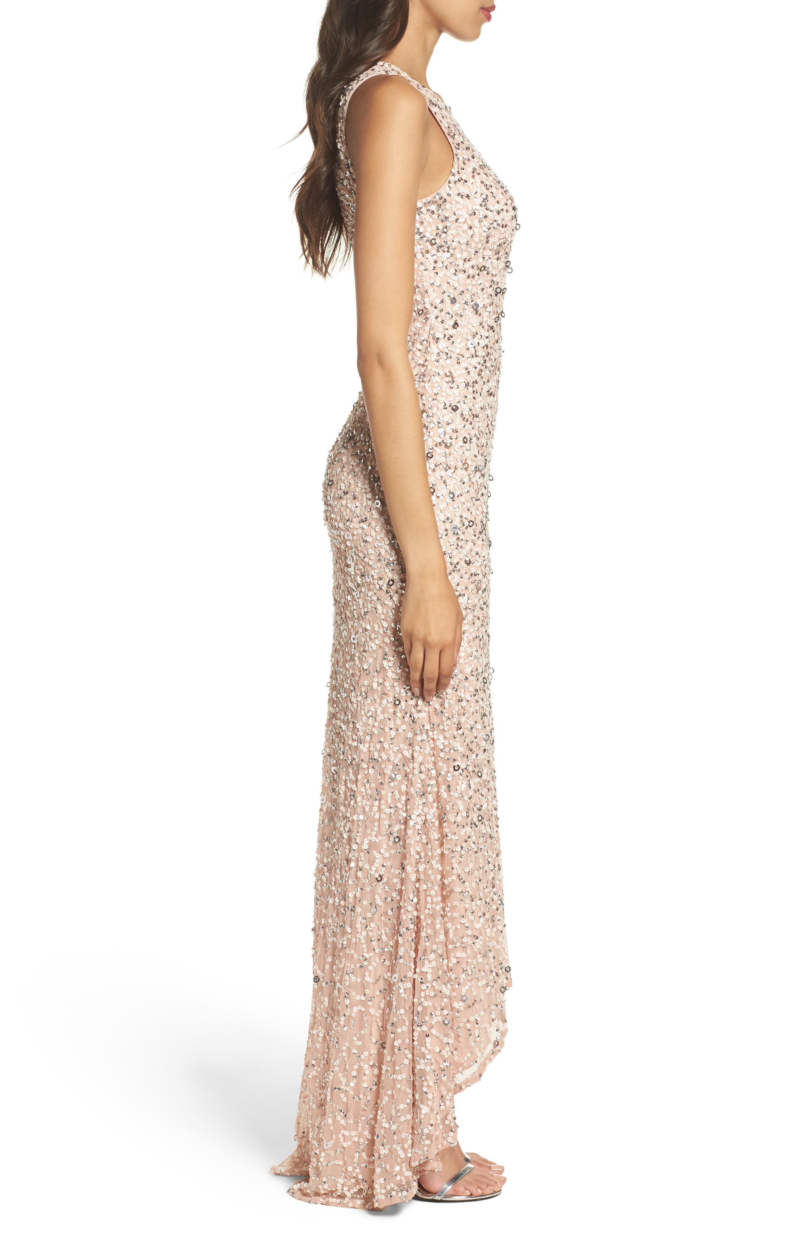 Sequin High/Low Gown,                             Alternate thumbnail 15, color,