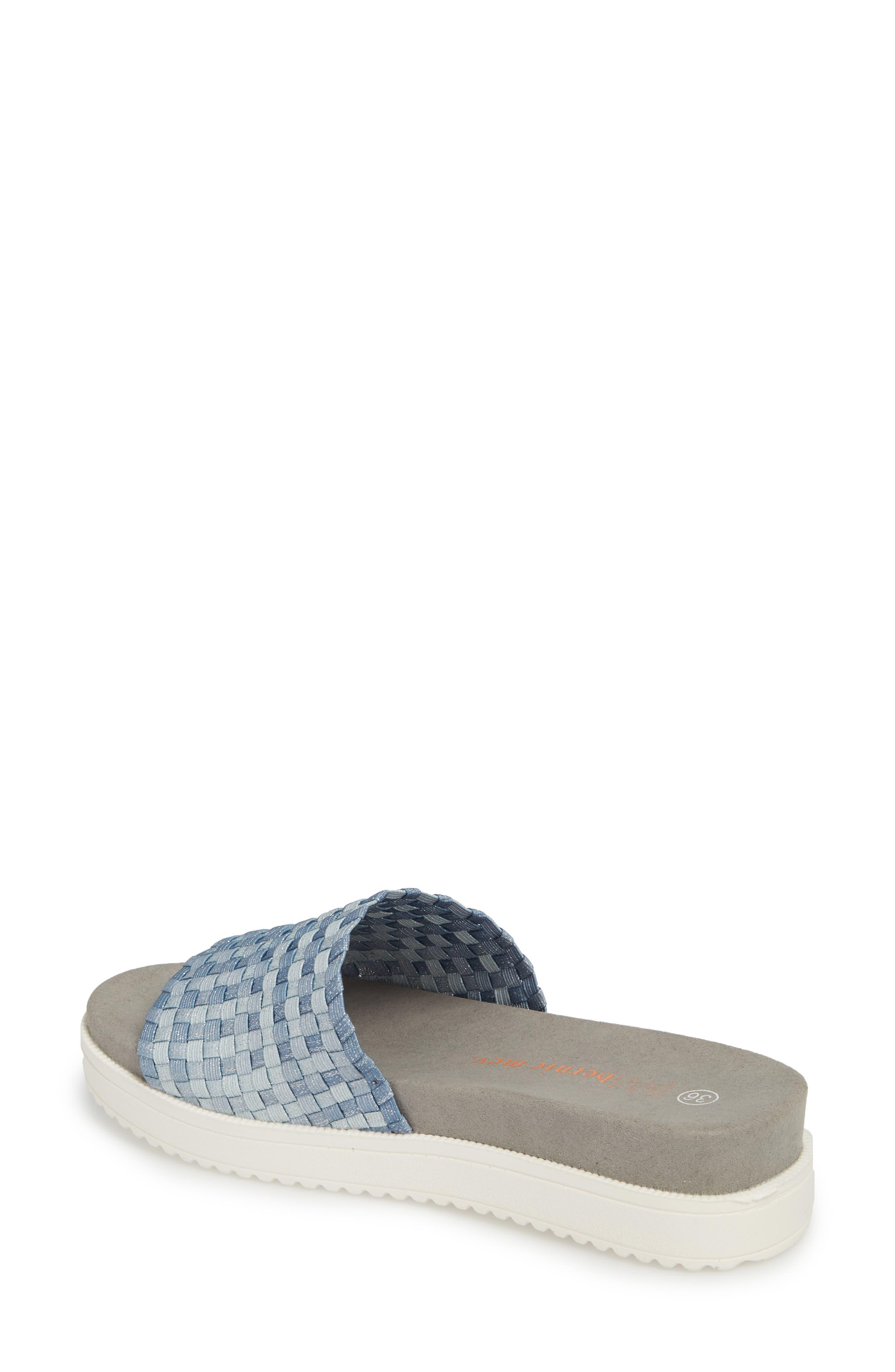 BERNIE MEV.,                             Capri Slide Sandal,                             Alternate thumbnail 2, color,                             CLOUD SHIMMER FABRIC