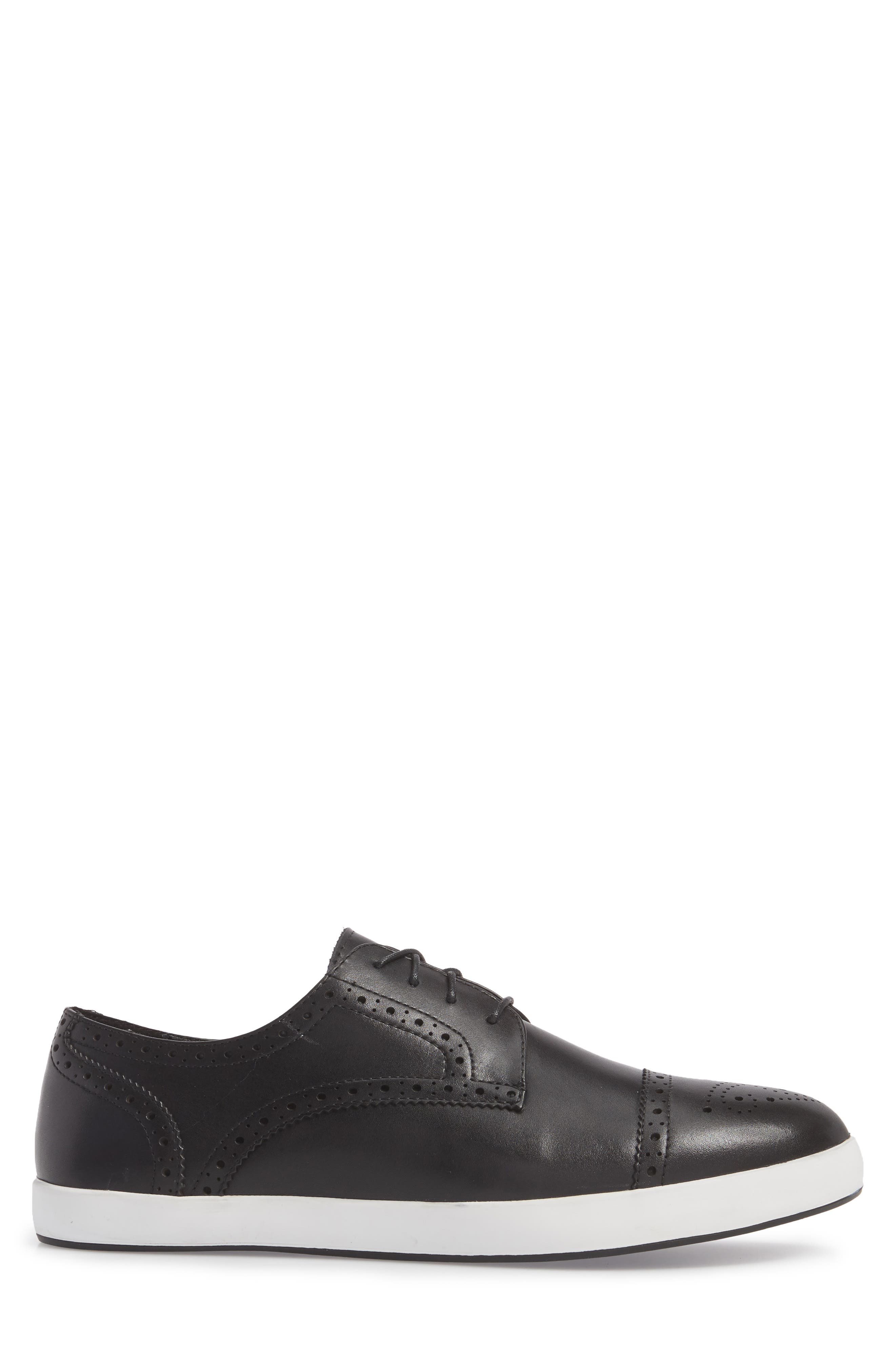 Dunnet Cap Toe Sneaker,                             Alternate thumbnail 3, color,                             001