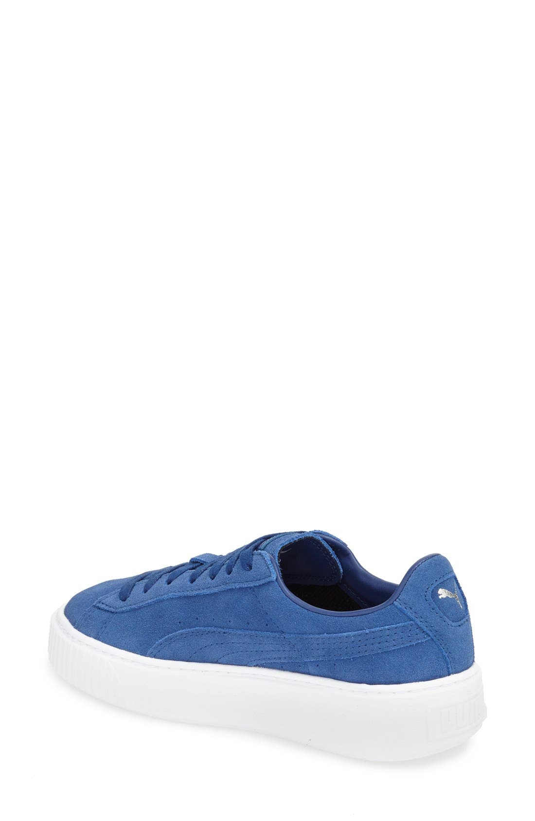 Suede Platform Sneaker,                             Alternate thumbnail 11, color,