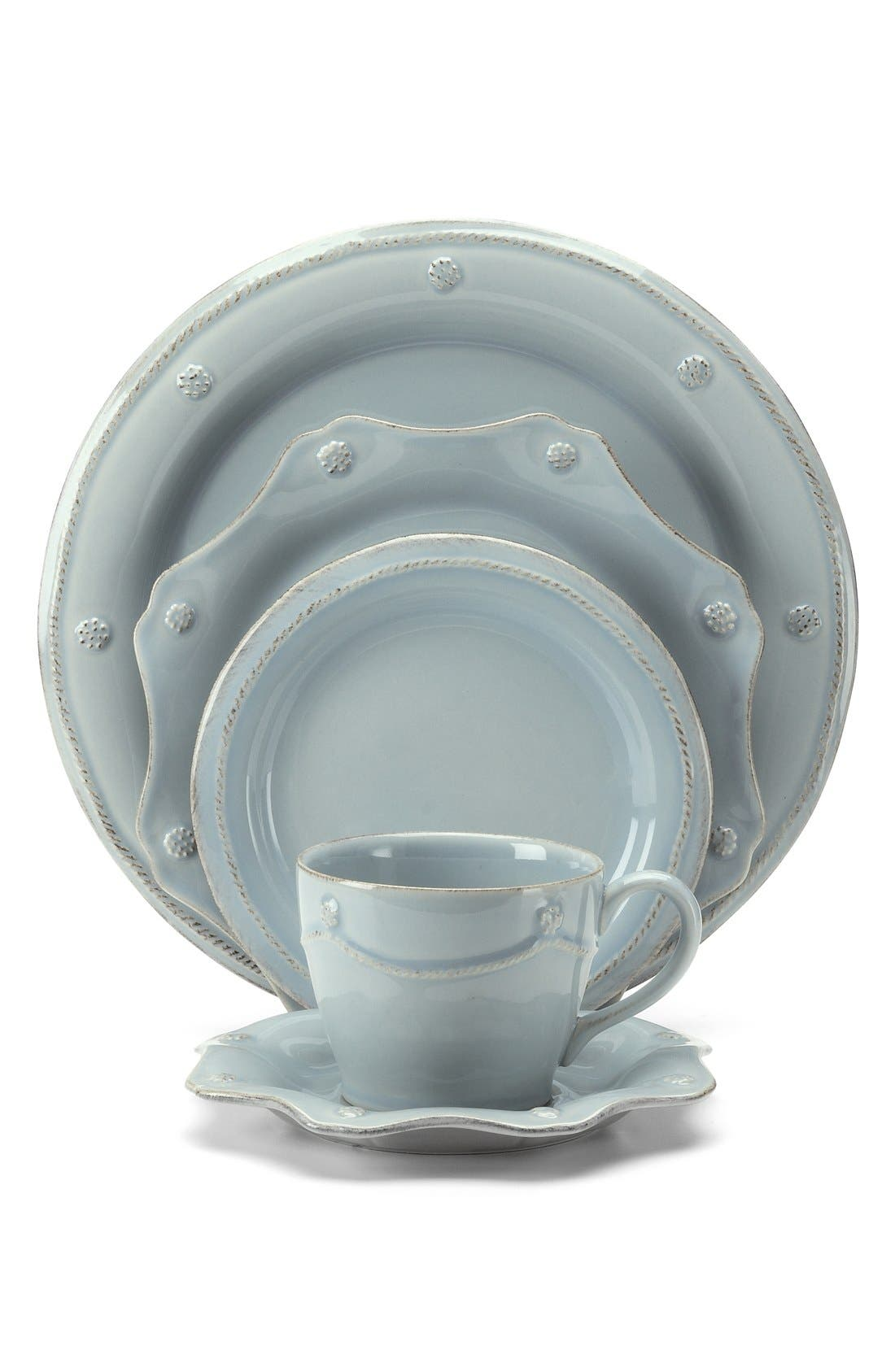 'Berry and Thread' 5-Piece Ceramic Place Setting,                             Main thumbnail 1, color,                             440