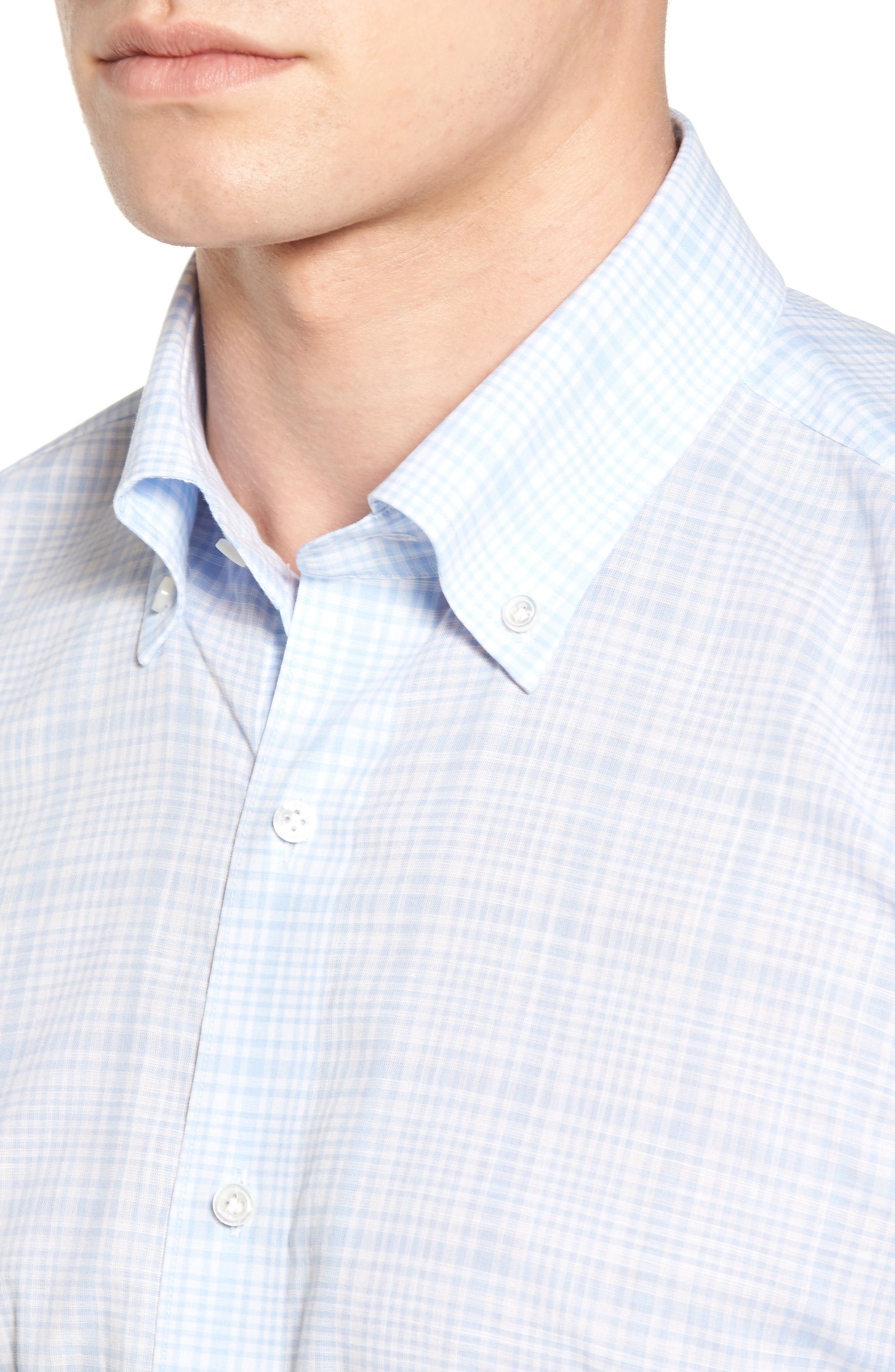 Laguna Plaid Sport Shirt,                             Alternate thumbnail 4, color,                             433
