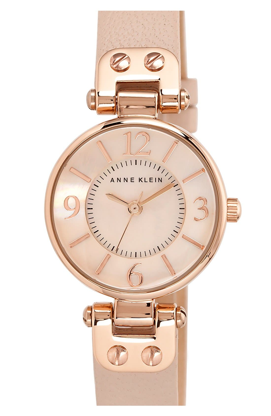 Hinge Case Watch, 32mm,                         Main,                         color, BLUSH/ ROSE GOLD