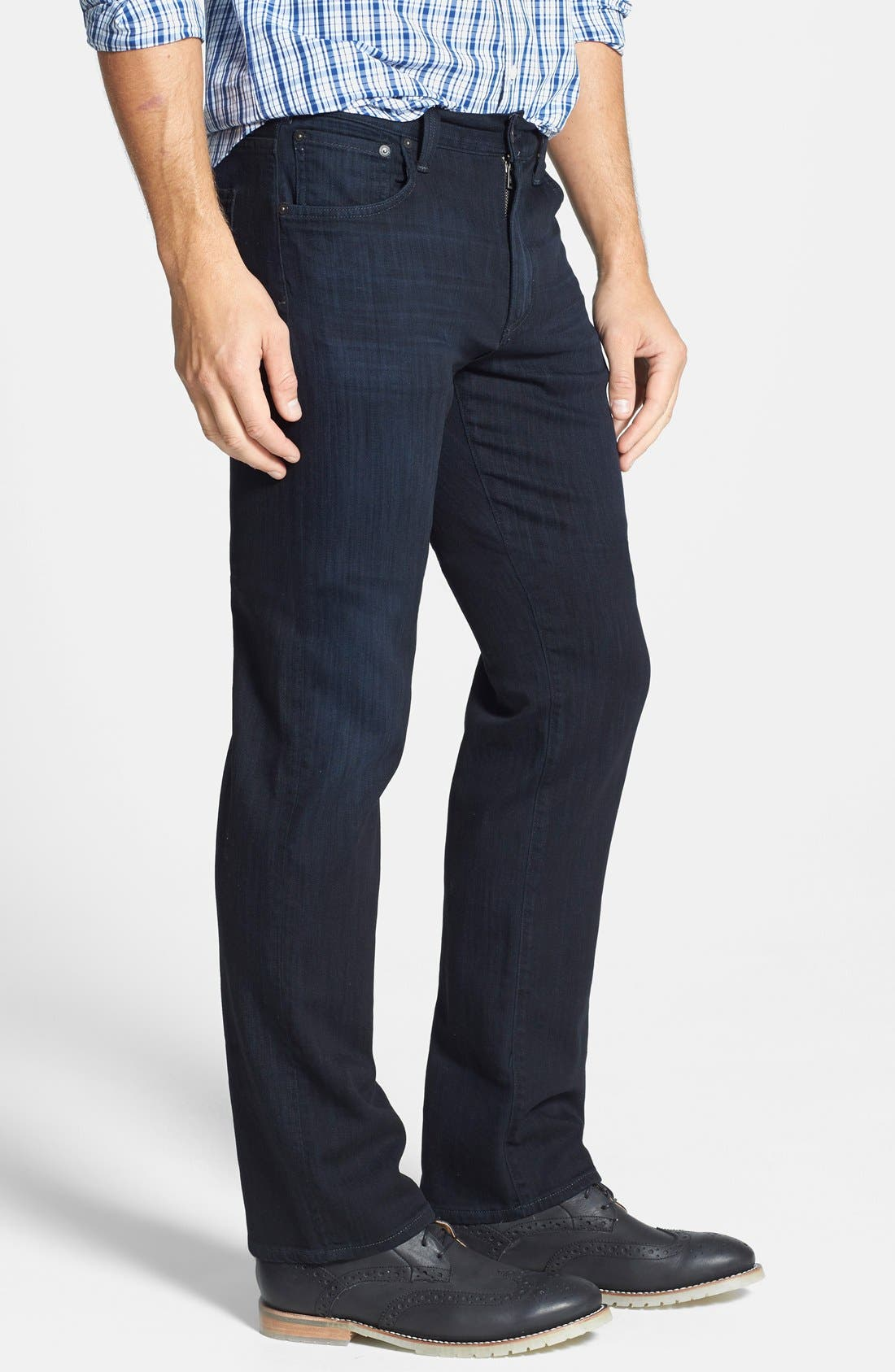 Sid Classic Straight Leg Jeans,                             Alternate thumbnail 5, color,                             REESE WASH