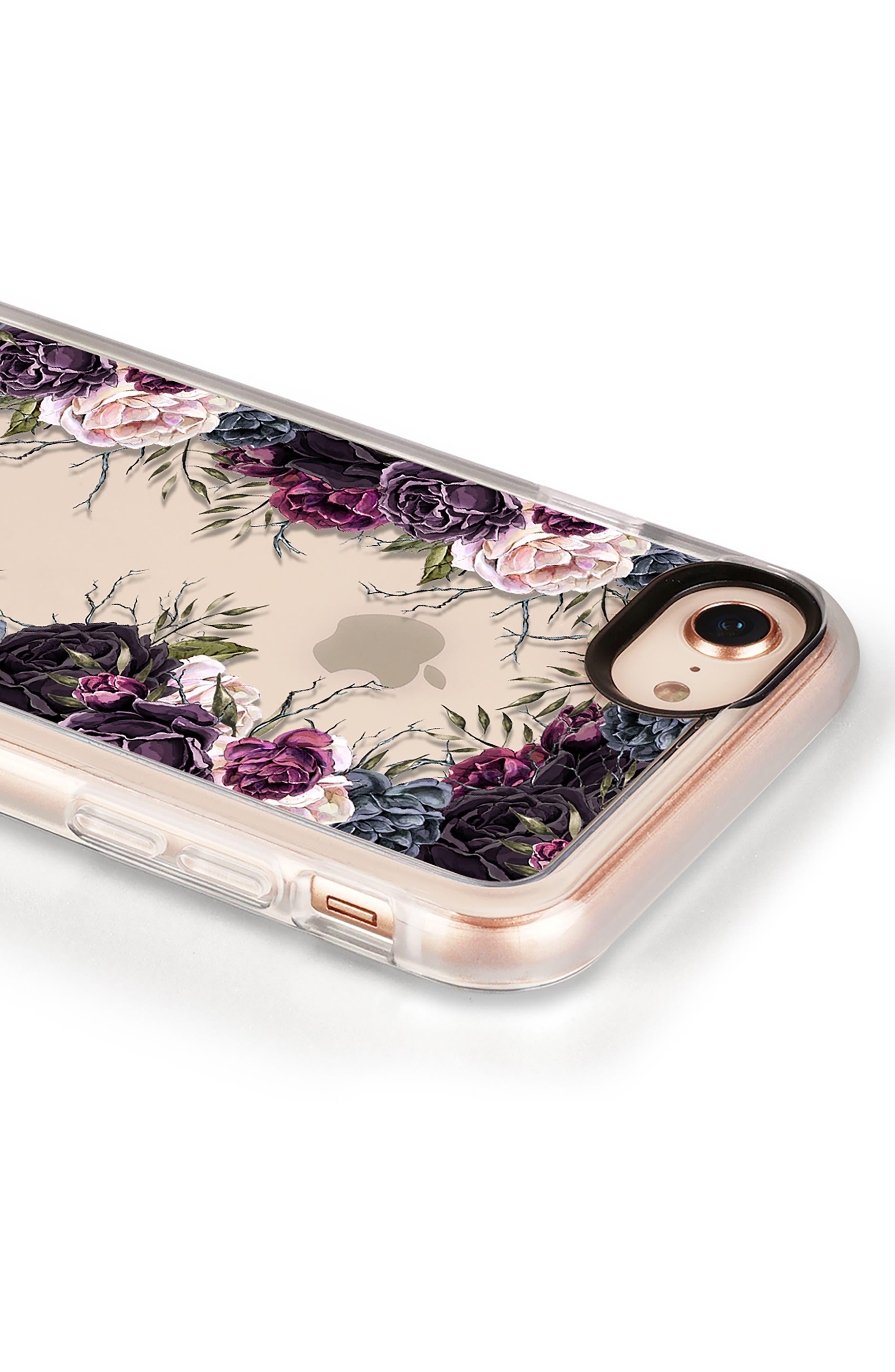 My Secret Garden Transparent iPhone 7/8 & 7/8 Plus Case,                             Alternate thumbnail 4, color,                             PURPLE