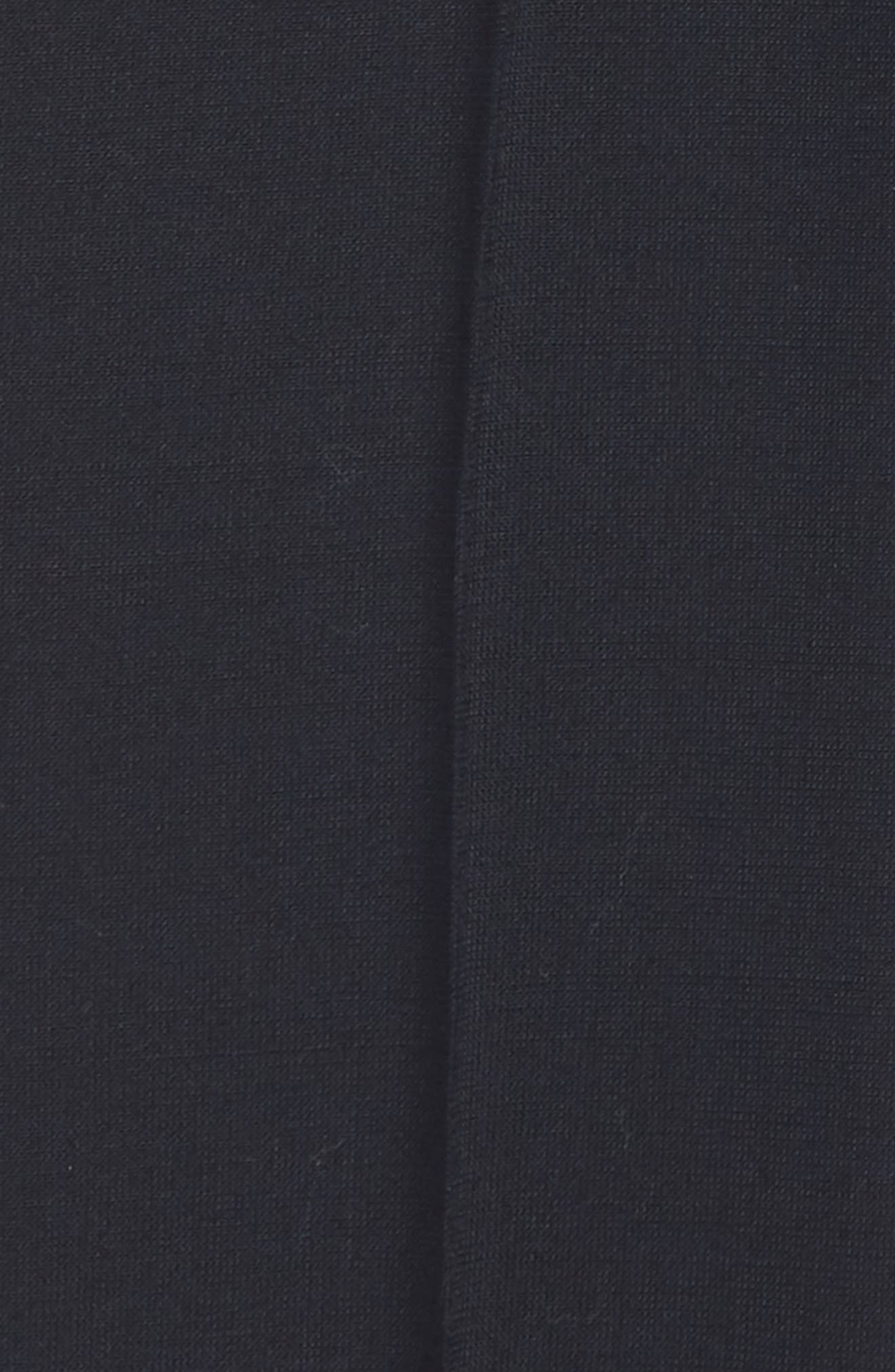 Solid Flat Front Wool Blend Trousers,                             Alternate thumbnail 2, color,                             BLACK