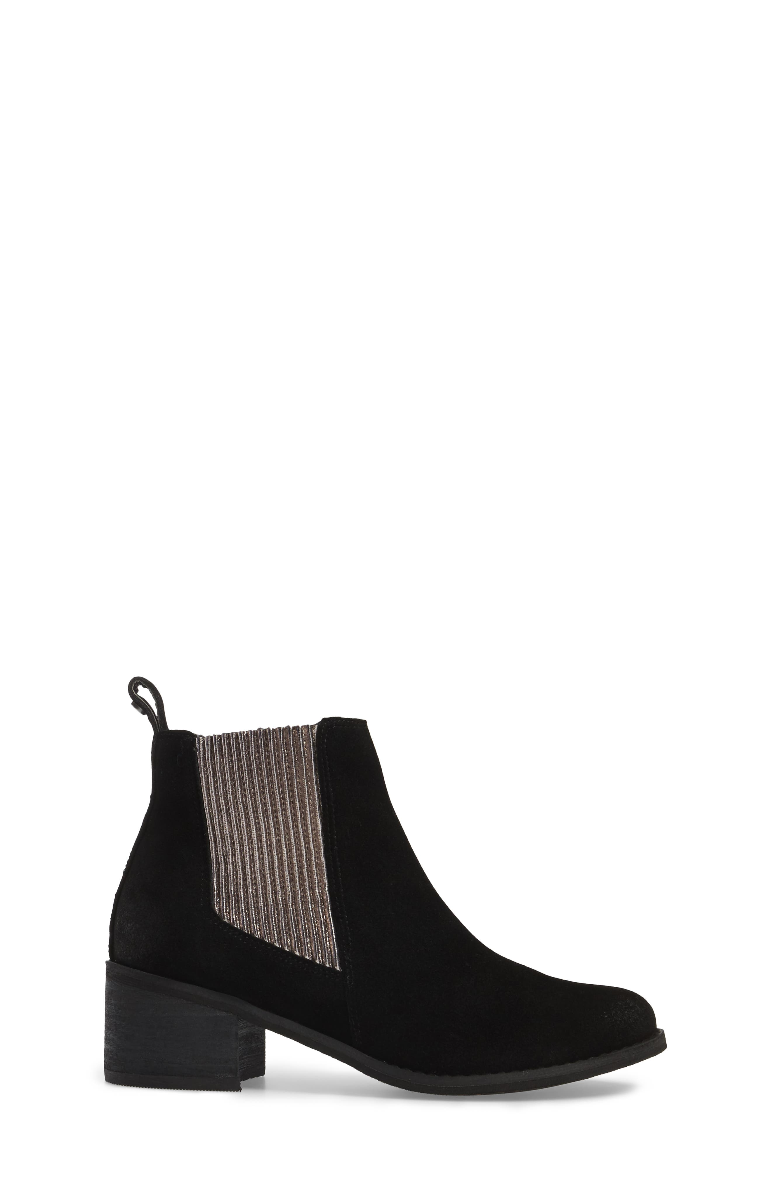 Juniper Pleated Chelsea Bootie,                             Alternate thumbnail 3, color,                             001