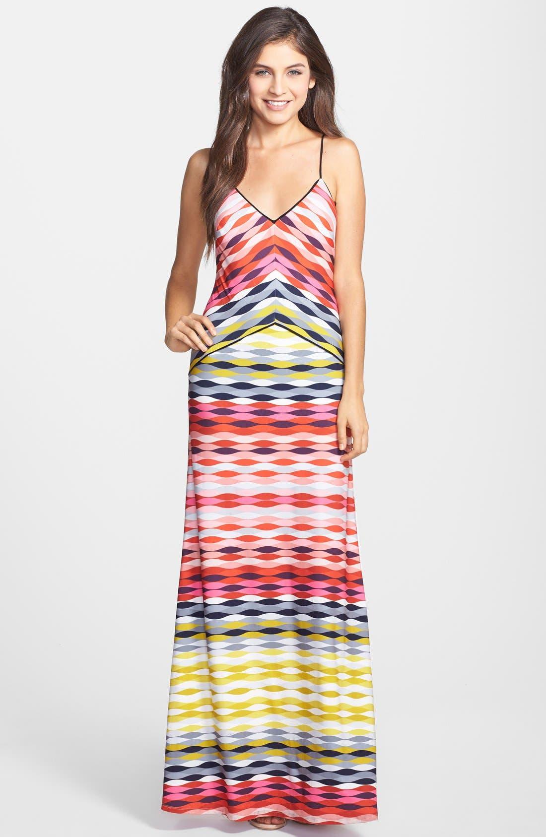 'Maiz' Print Jersey Maxi Dress, Main, color, 600