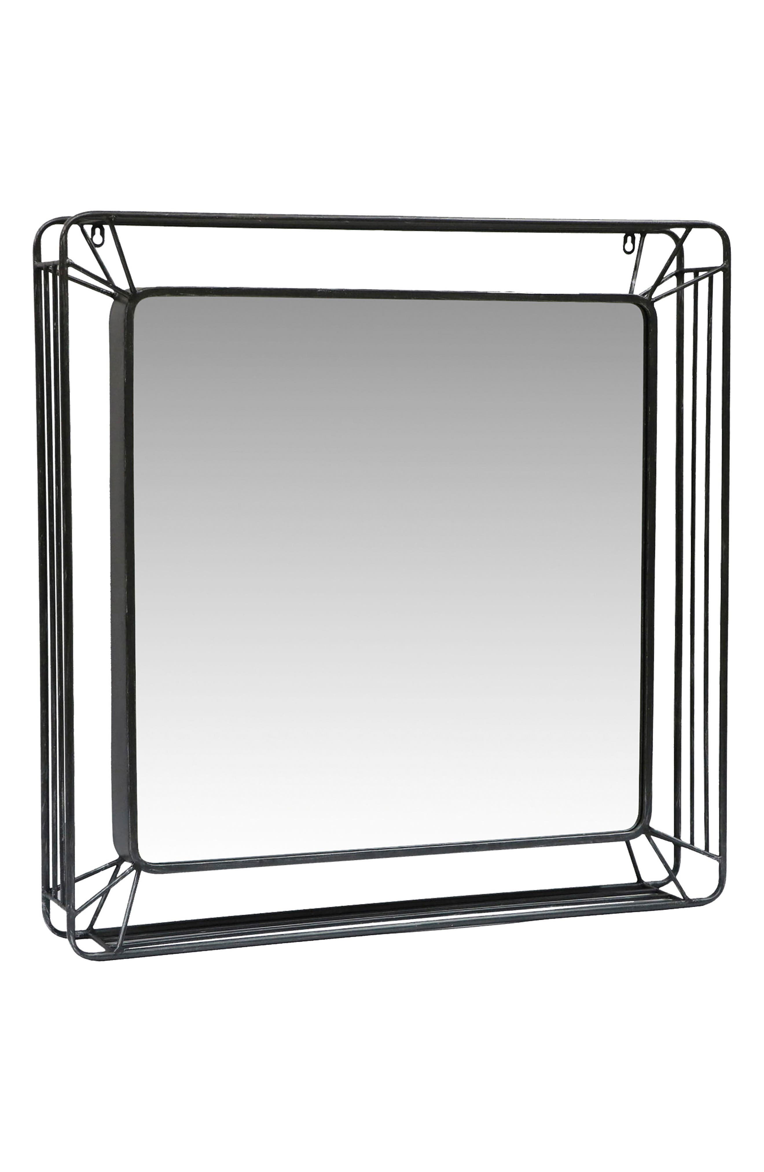 Forged Iron Mirror,                             Main thumbnail 1, color,                             040