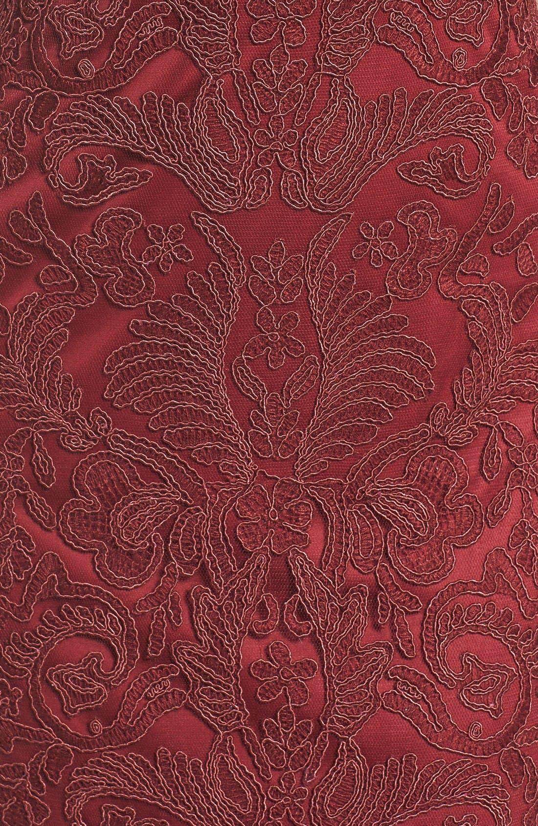 Illusion Yoke Lace Sheath Dress,                             Alternate thumbnail 115, color,
