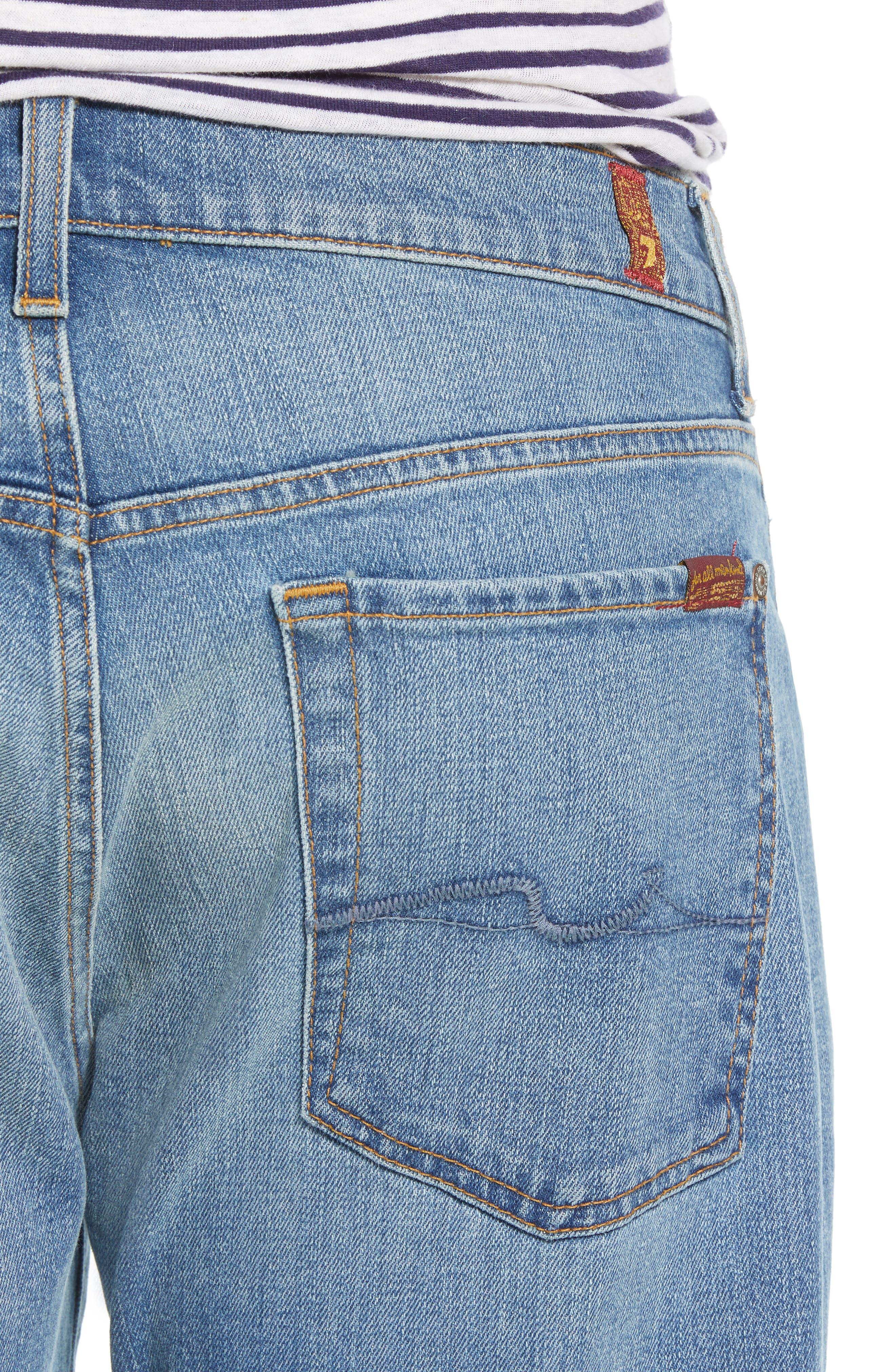 The Straight Slim Straight Leg Jeans,                             Alternate thumbnail 4, color,                             400