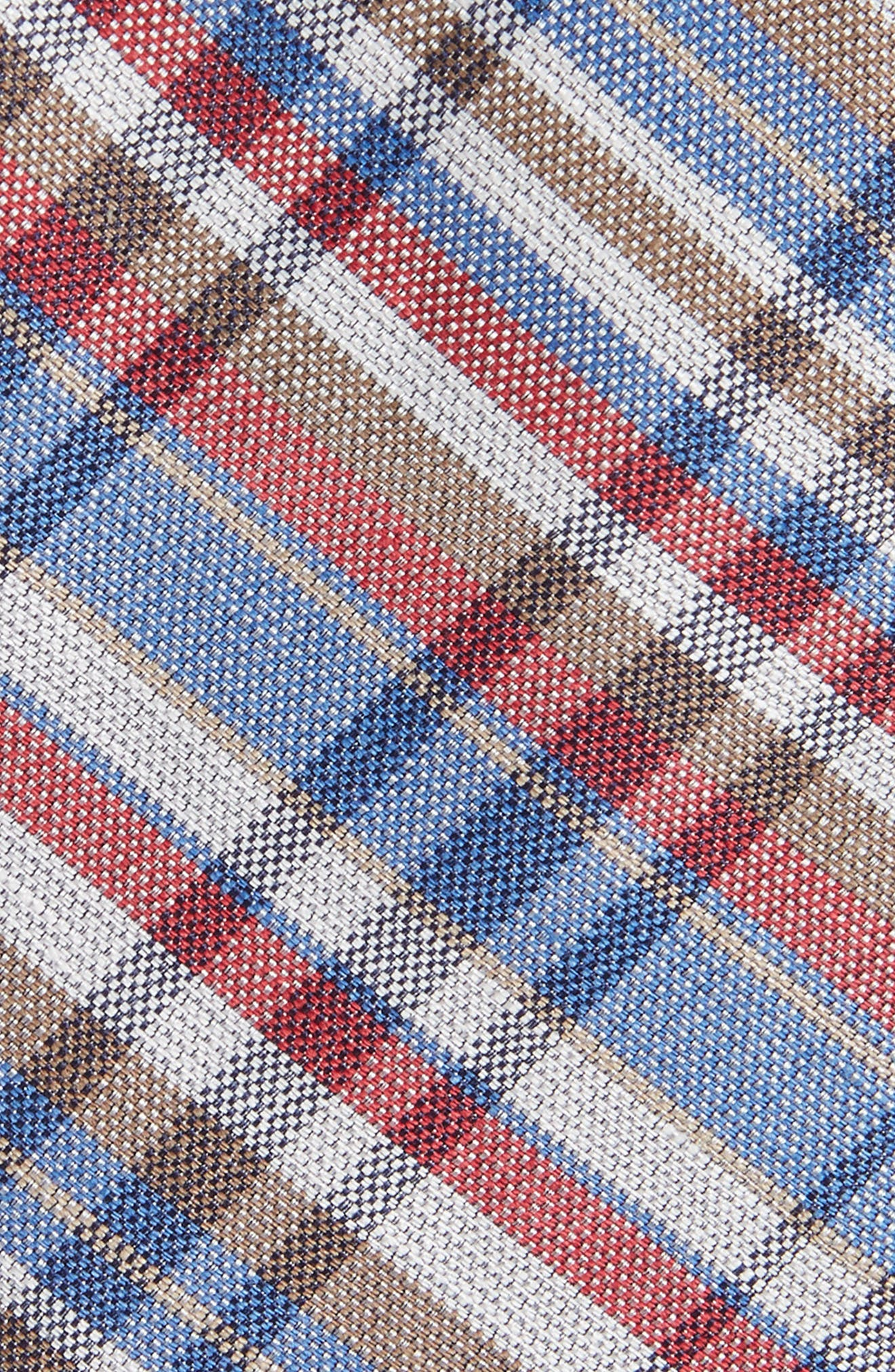 Donelly Plaid Linen & Silk Tie,                             Alternate thumbnail 2, color,                             BLUE