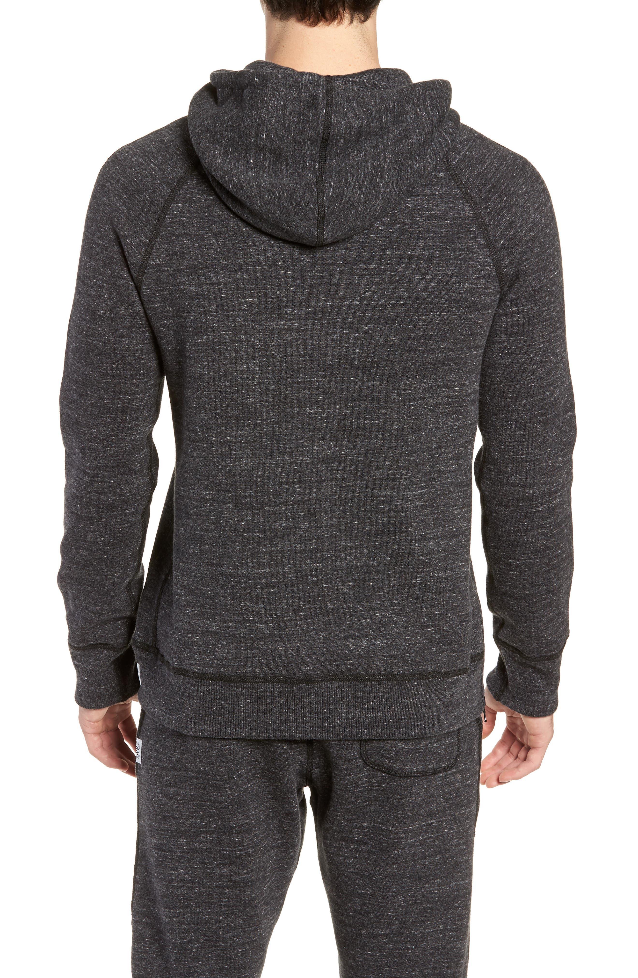 Trim Fit Side Zip Hooded Sweatshirt,                             Alternate thumbnail 2, color,                             020