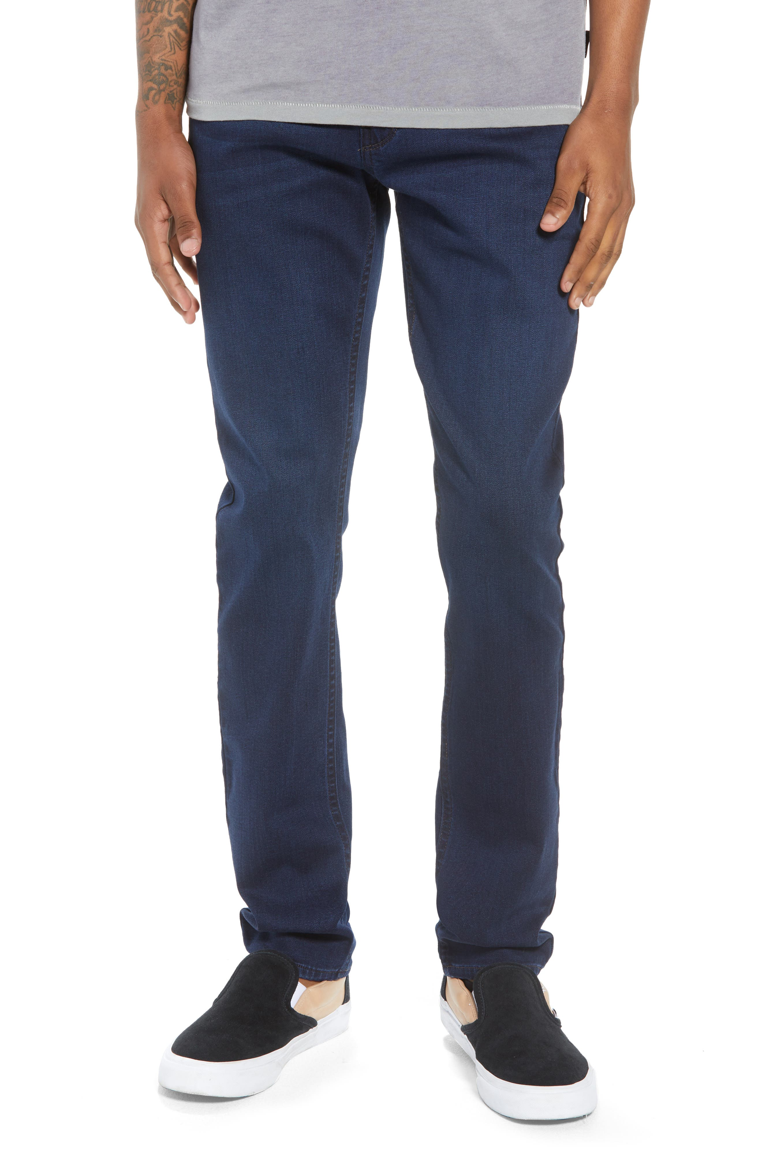 Transcend - Croft Skinny Fit Jeans,                         Main,                         color, HAYWORD