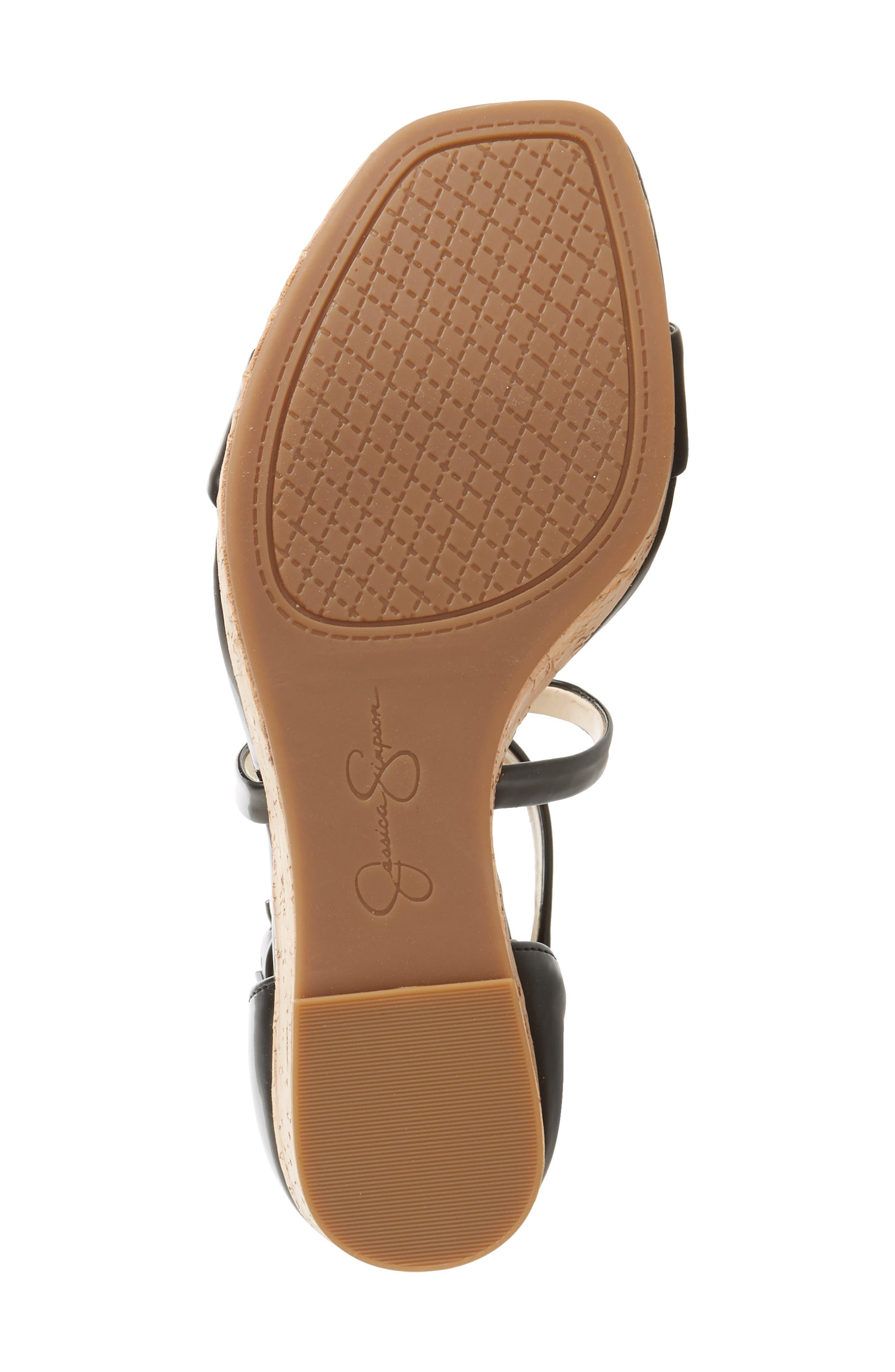Stassi Cross Strap Wedge Sandal,                             Alternate thumbnail 6, color,                             001