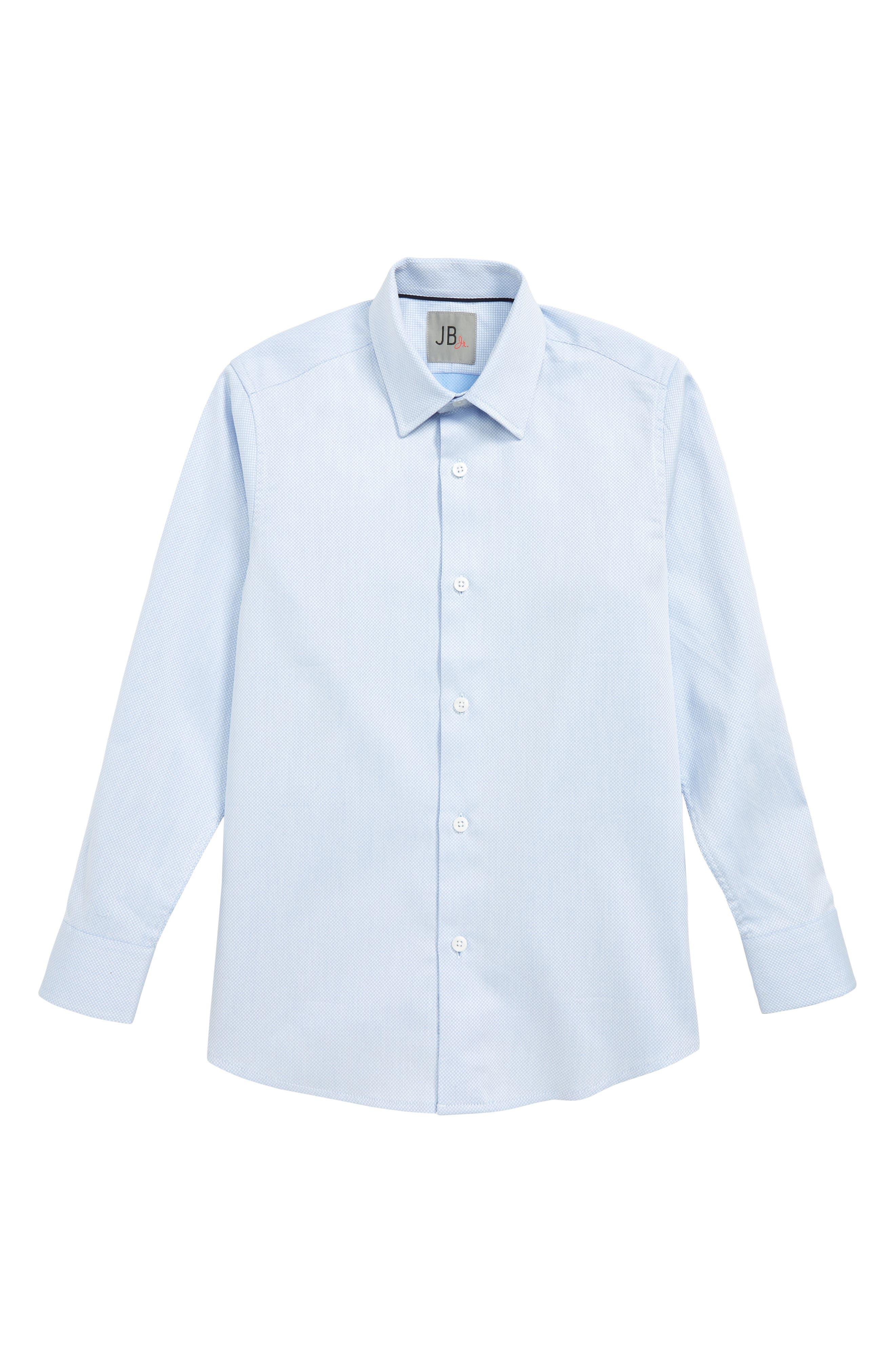 Textured Dress Shirt, Main, color, BLUE