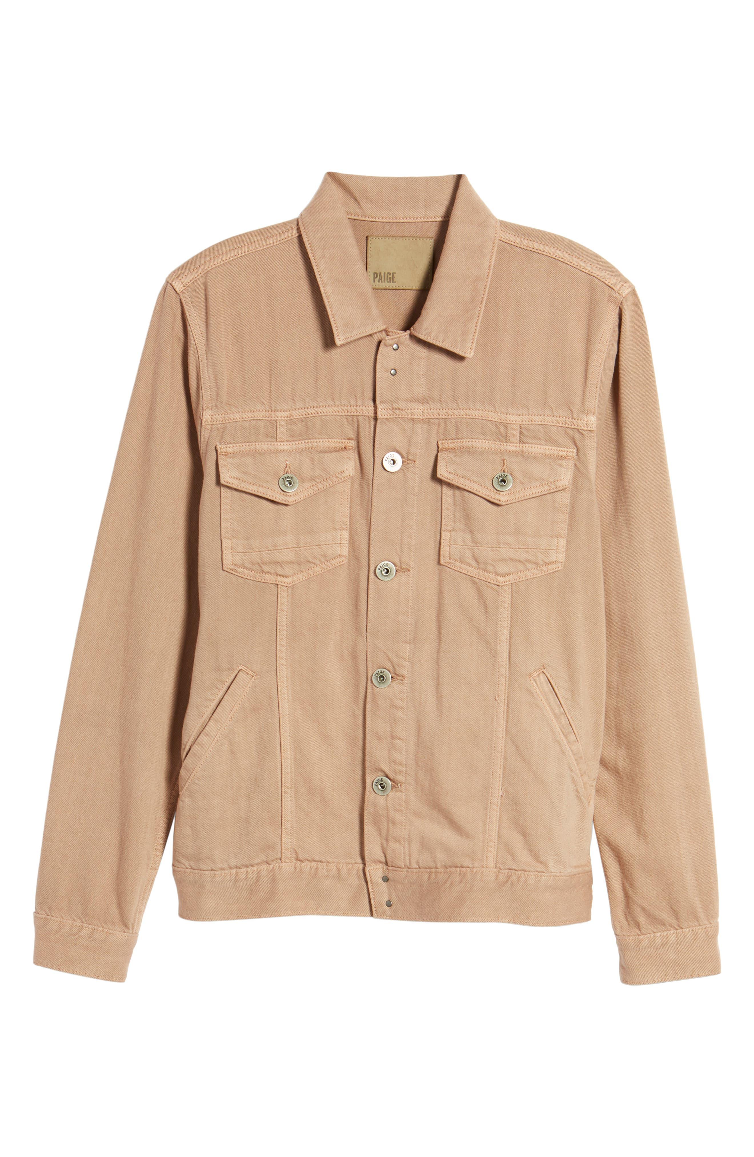 Scout Denim Jacket,                             Alternate thumbnail 5, color,                             VINTAGE DUSTY ROSE