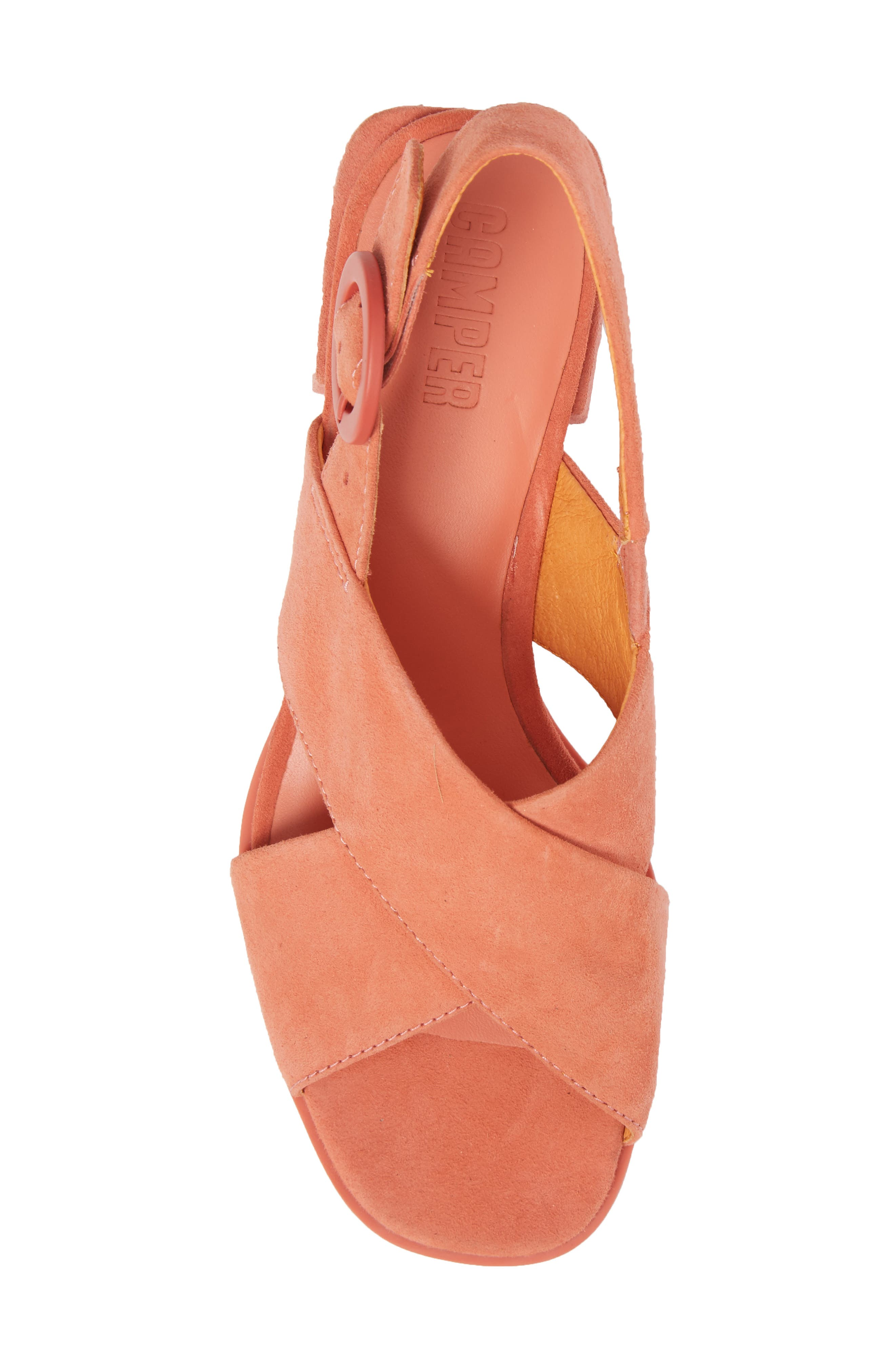 Kobo Cross Strap Sandal,                             Alternate thumbnail 5, color,                             MEDIUM PINK LEATHER