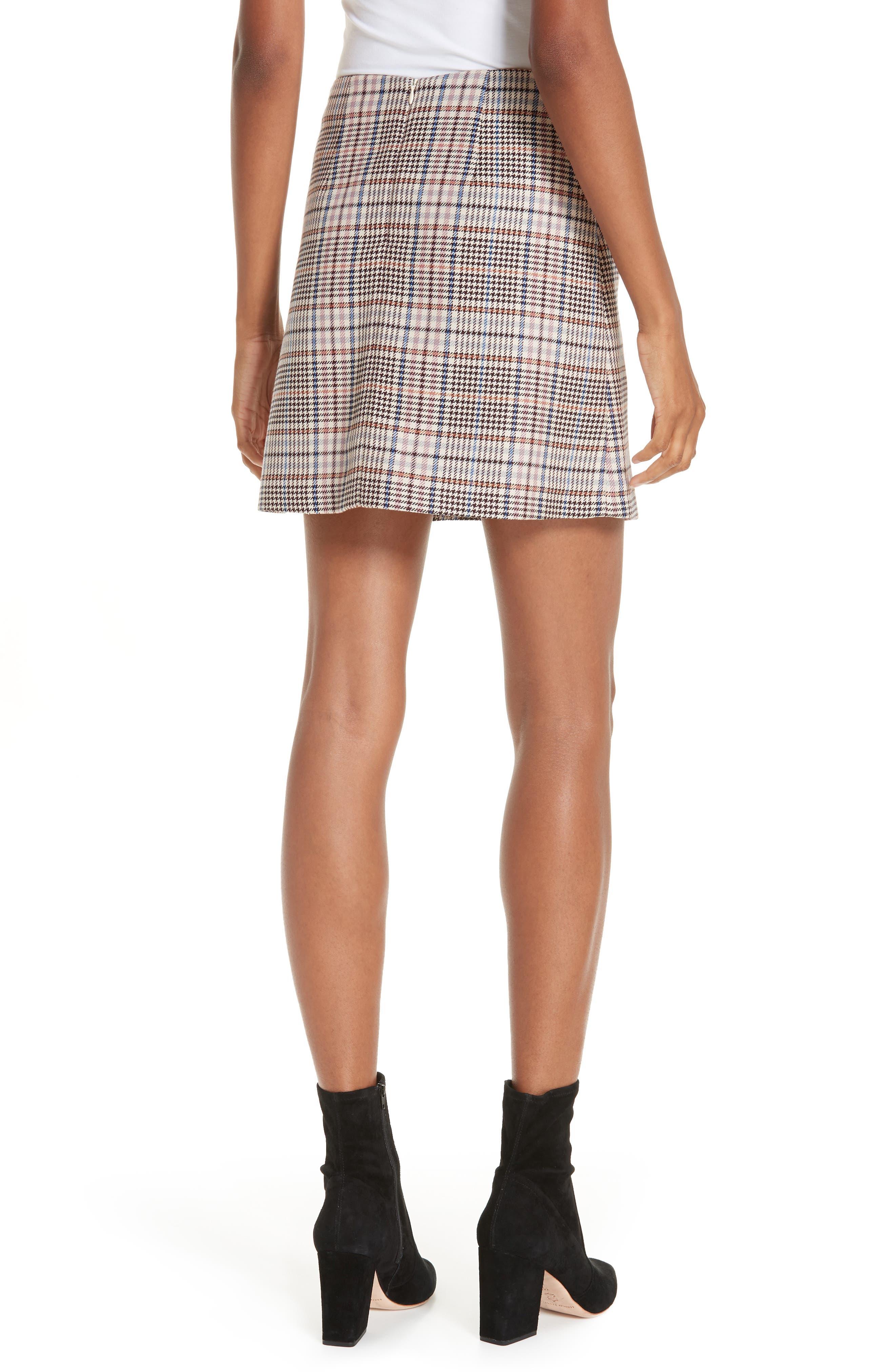 Plaid Miniskirt,                             Alternate thumbnail 2, color,                             650
