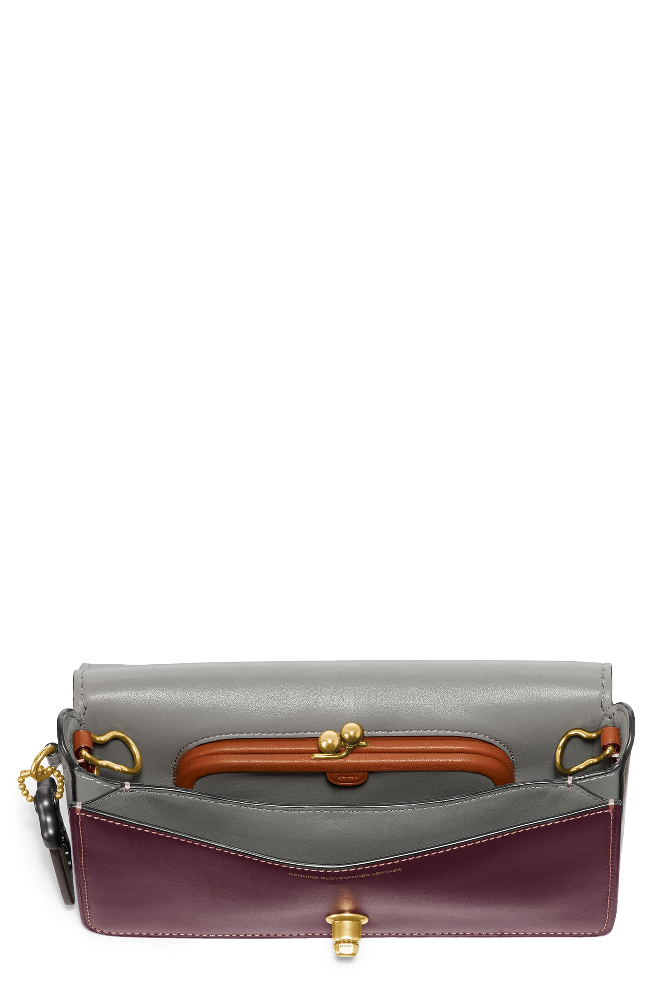 Dinky Colorblock Leather Crossbody Bag,                             Main thumbnail 1, color,                             CHALK MULTI