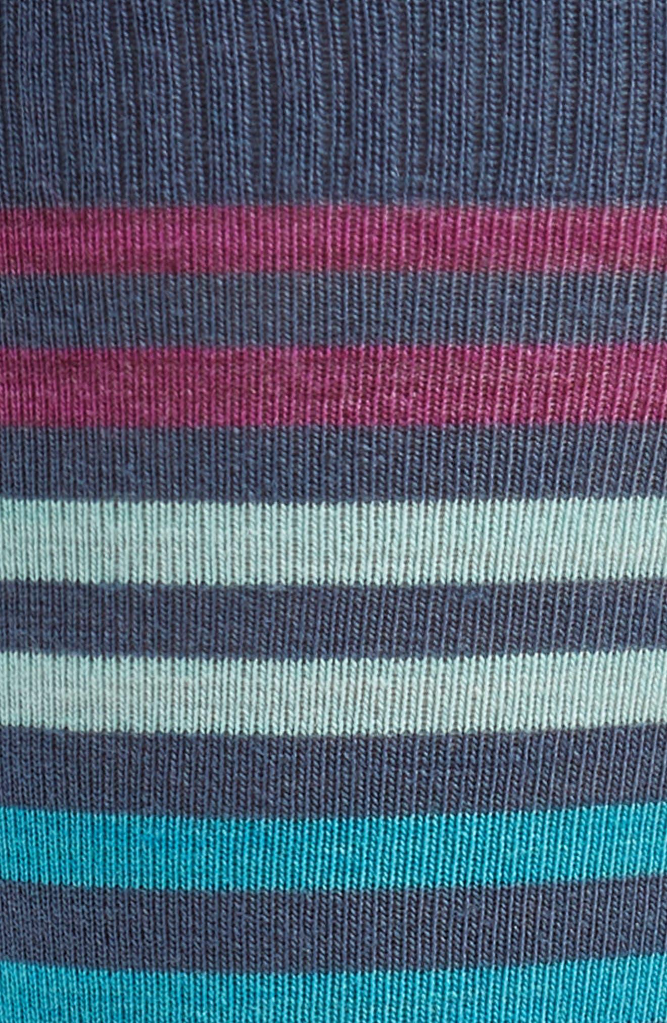 'Spruce Street' Stripe Merino Wool Blend Socks,                             Alternate thumbnail 2, color,                             DARK BLUE STEEL HEATHER