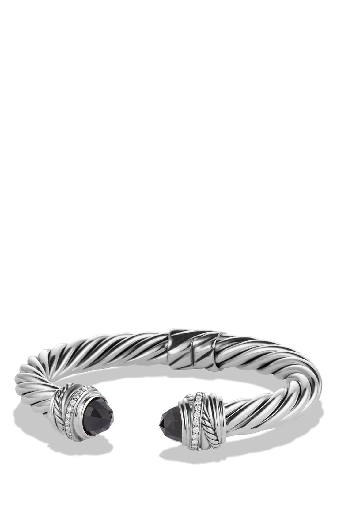 'Cable Classics' Bracelet with Semiprecious Stones & Diamonds,                         Main,                         color, 001