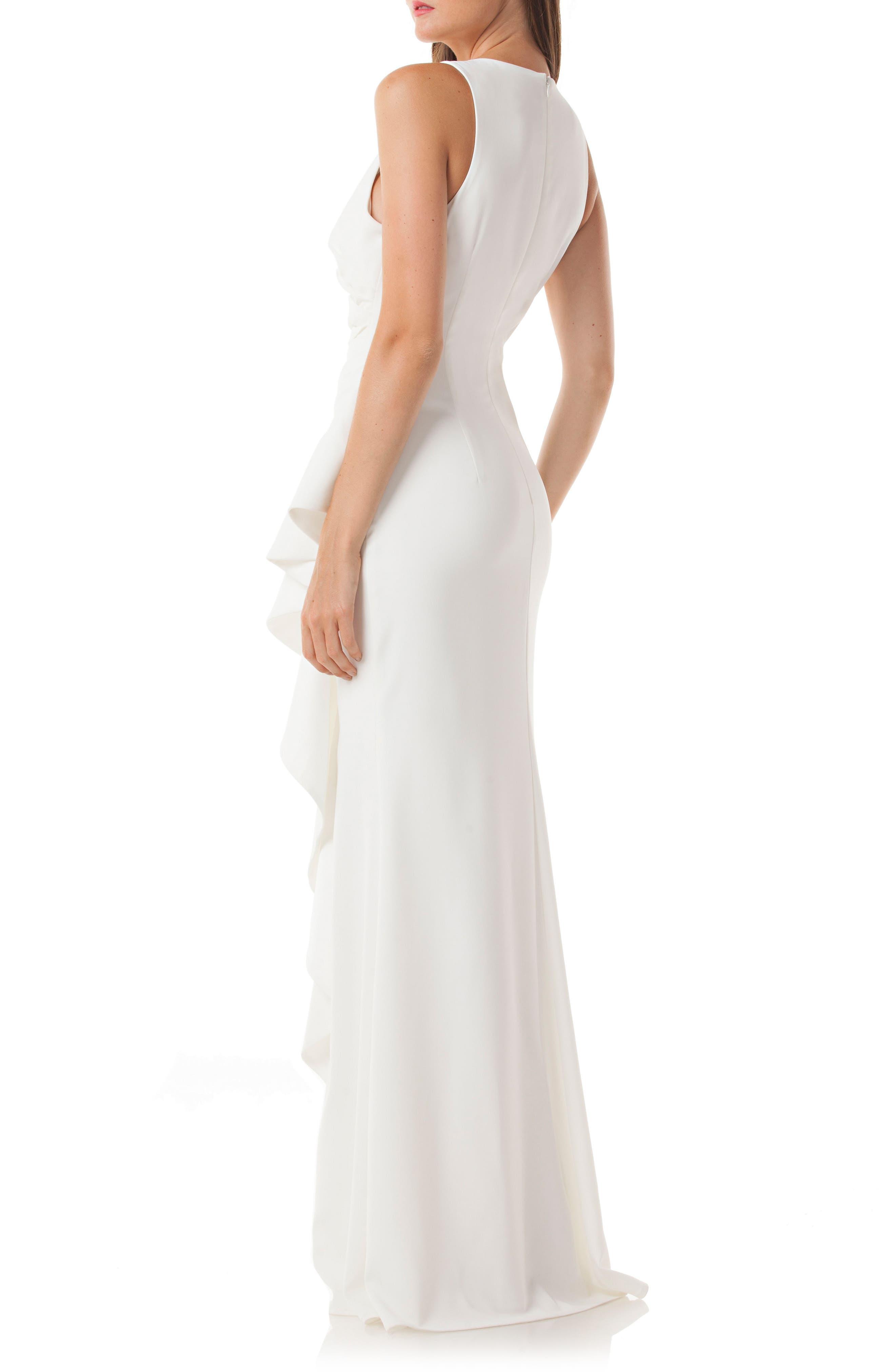 Cutaway Cascade Gown,                             Alternate thumbnail 2, color,                             900