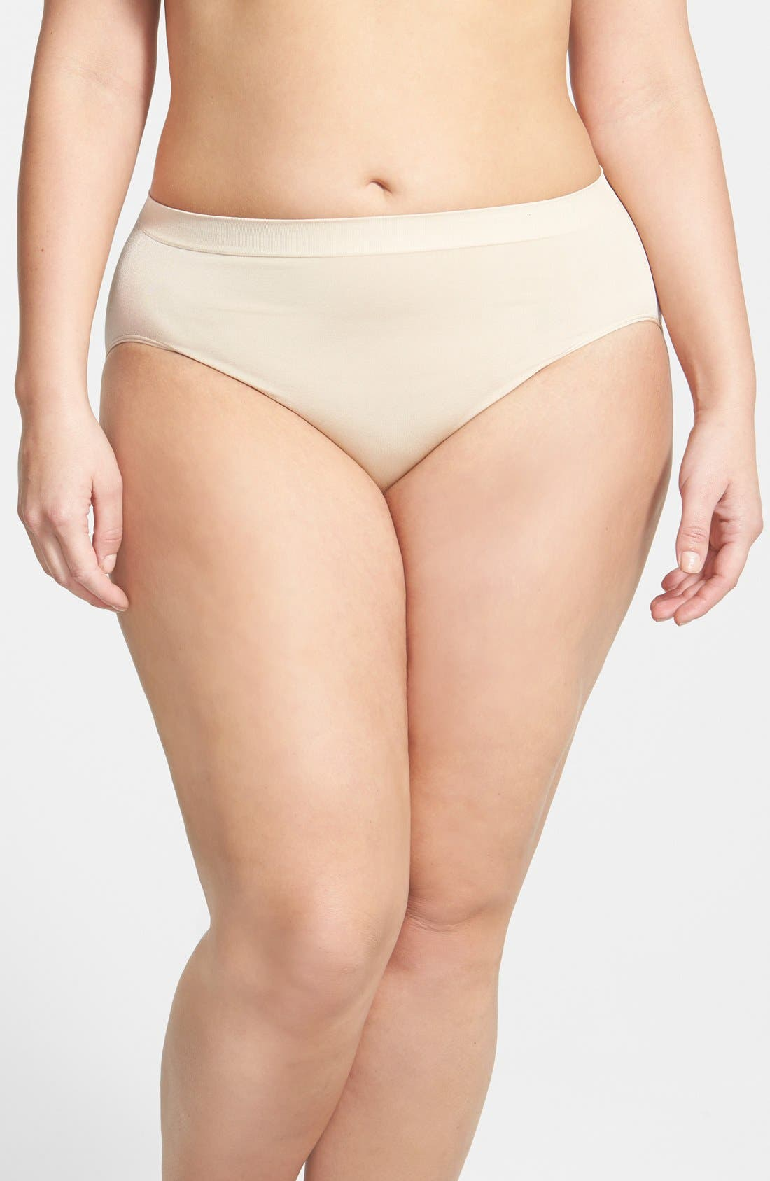 Smooth High Cut Briefs,                             Main thumbnail 1, color,                             NATURALLY NUDE