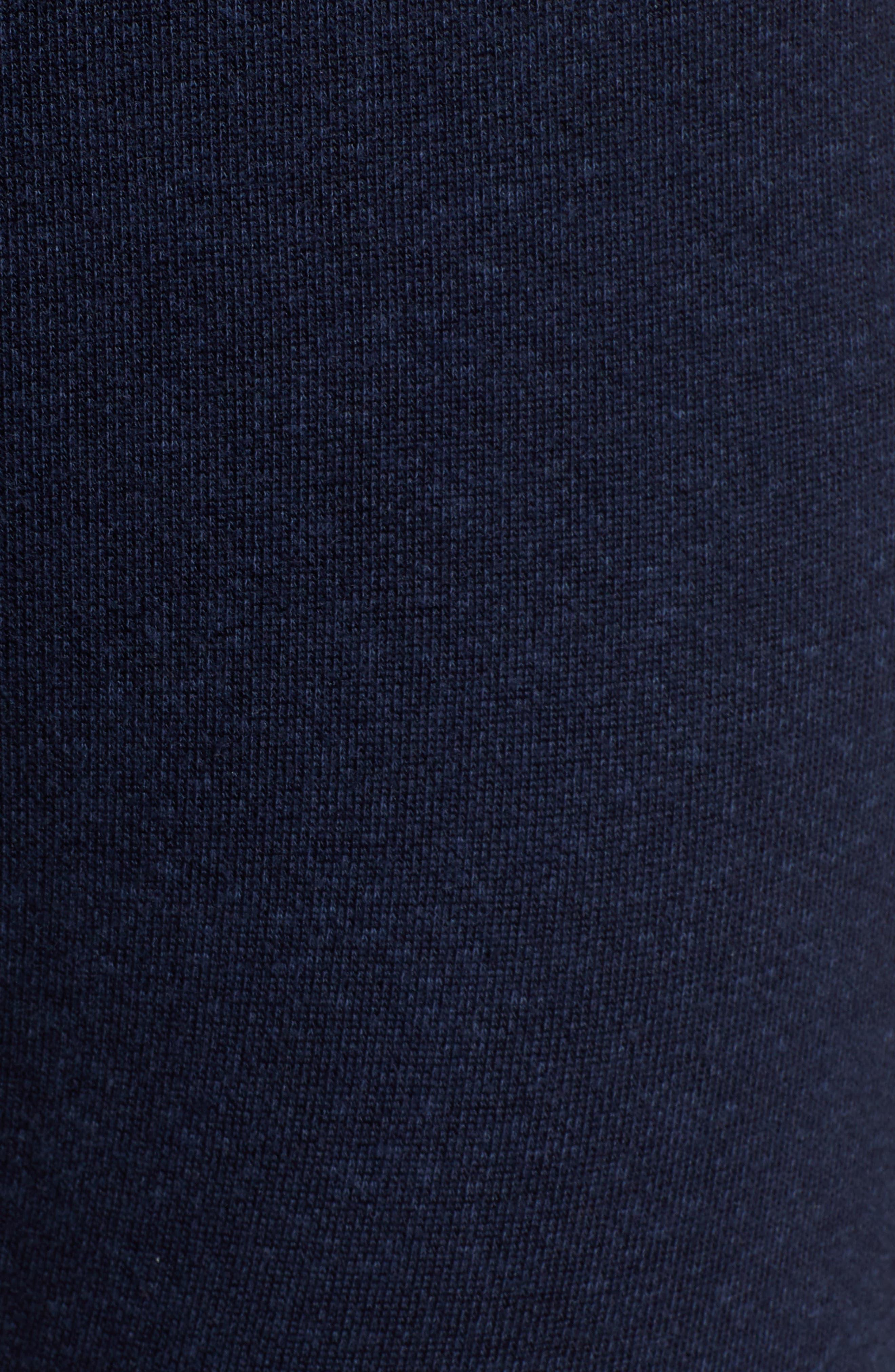 Midnight Stripe Cuff Cotton Blend Sweatpants,                             Alternate thumbnail 5, color,                             MIDNIGHT