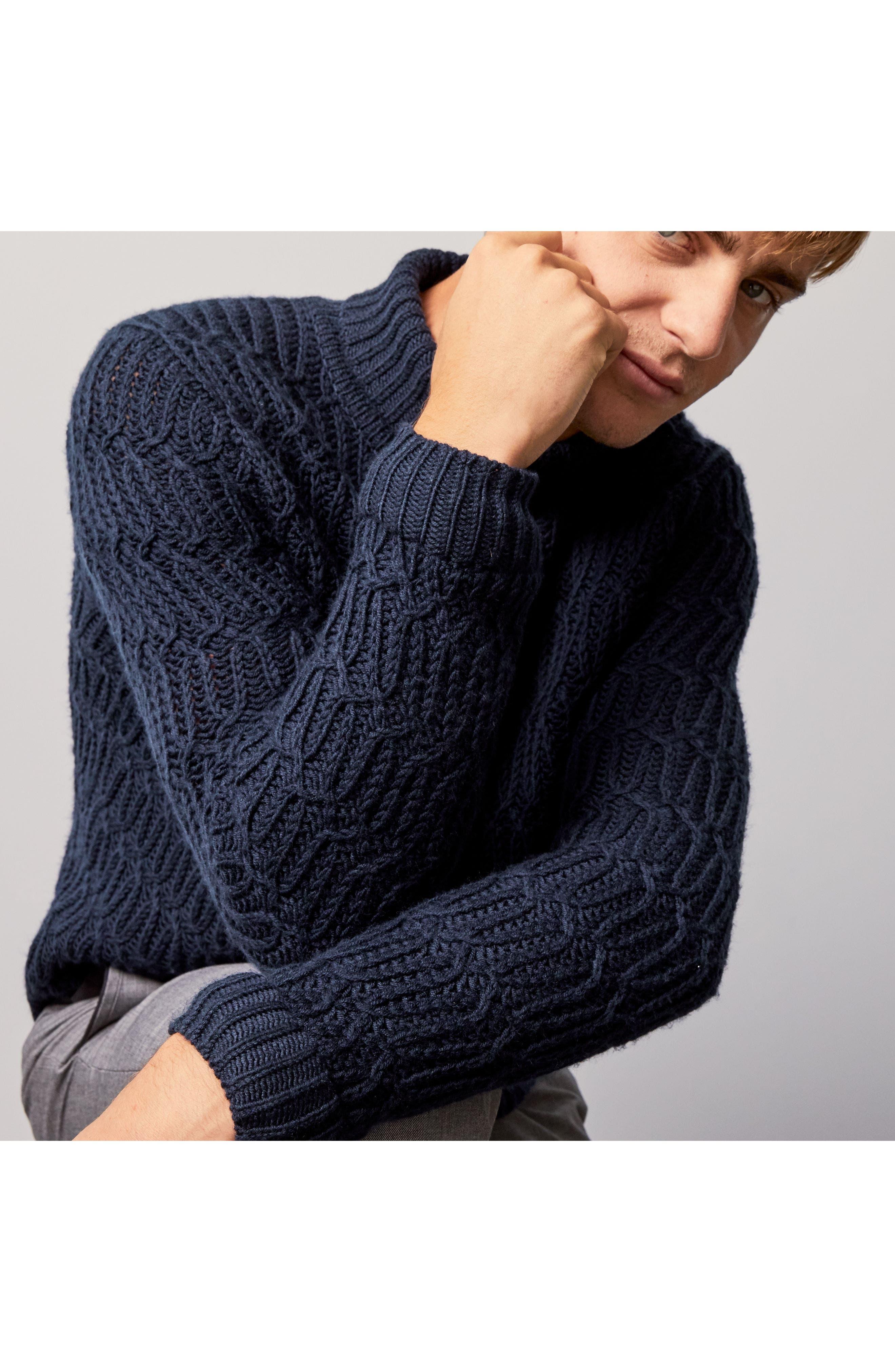 Chunky Turtleneck Sweater,                             Alternate thumbnail 10, color,