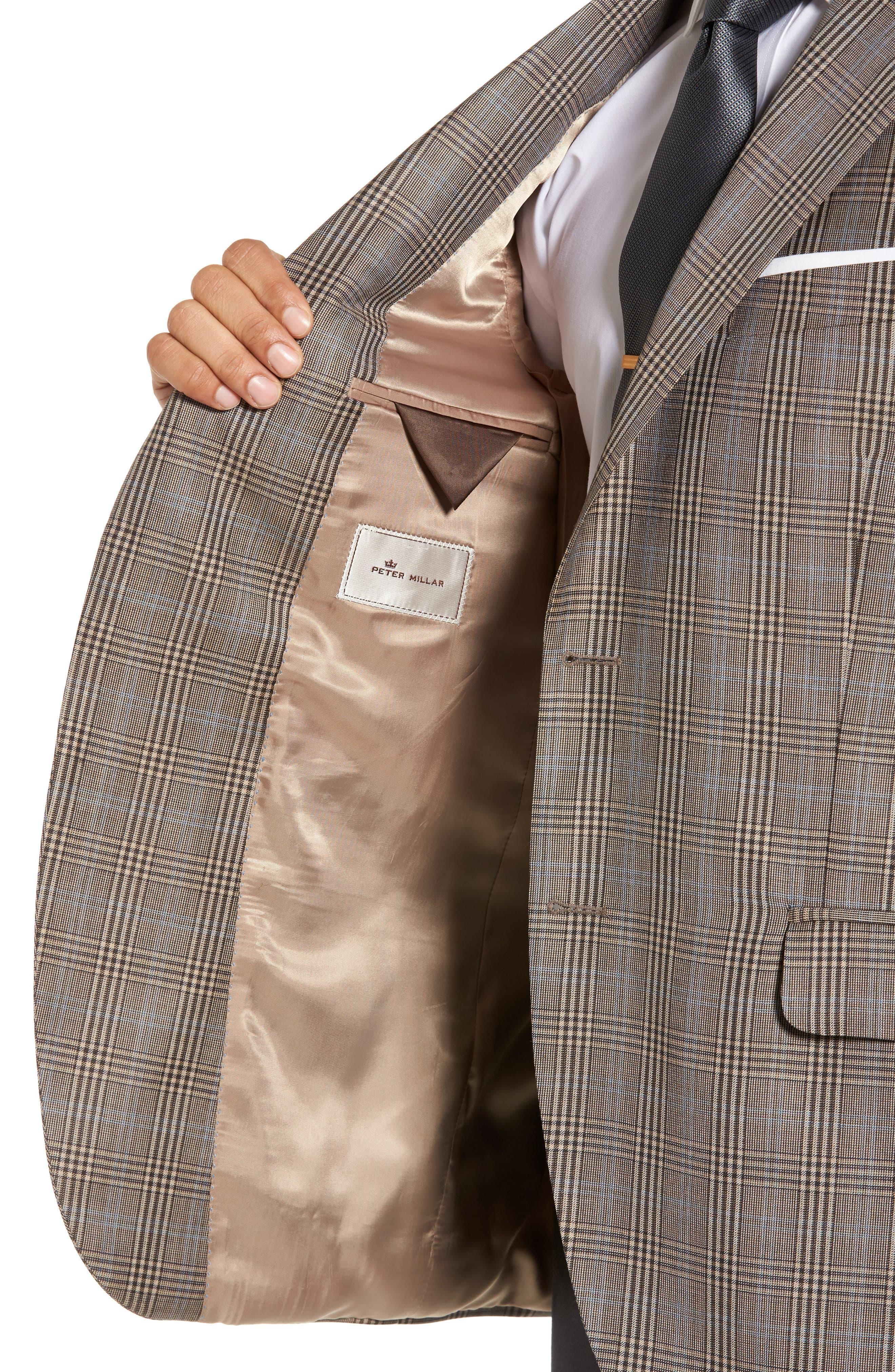 Classic Fit Plaid Wool Sport Coat,                             Alternate thumbnail 4, color,                             210