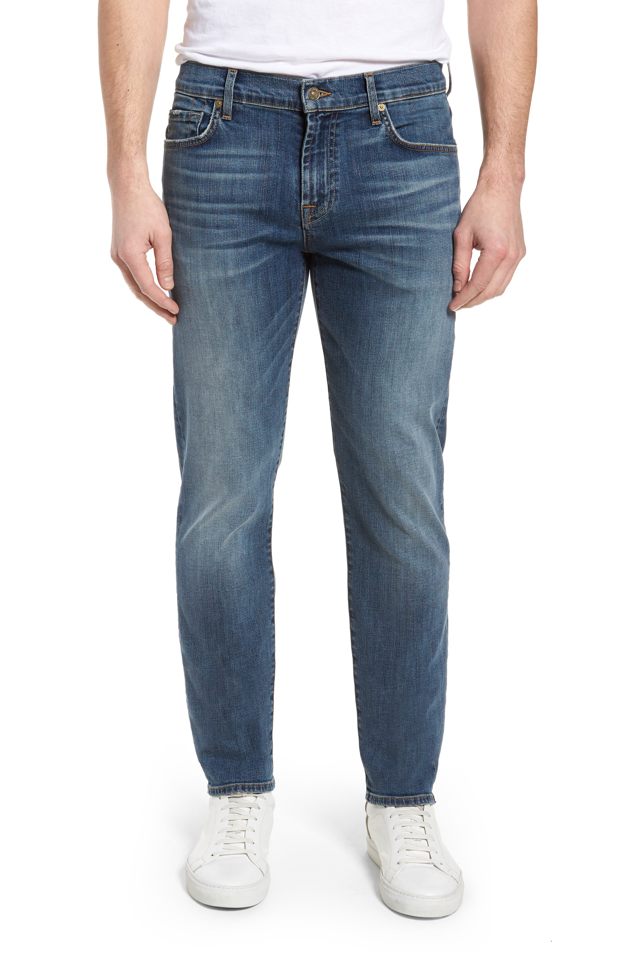 Standard Straight Leg Jeans,                         Main,                         color, BEDROCK