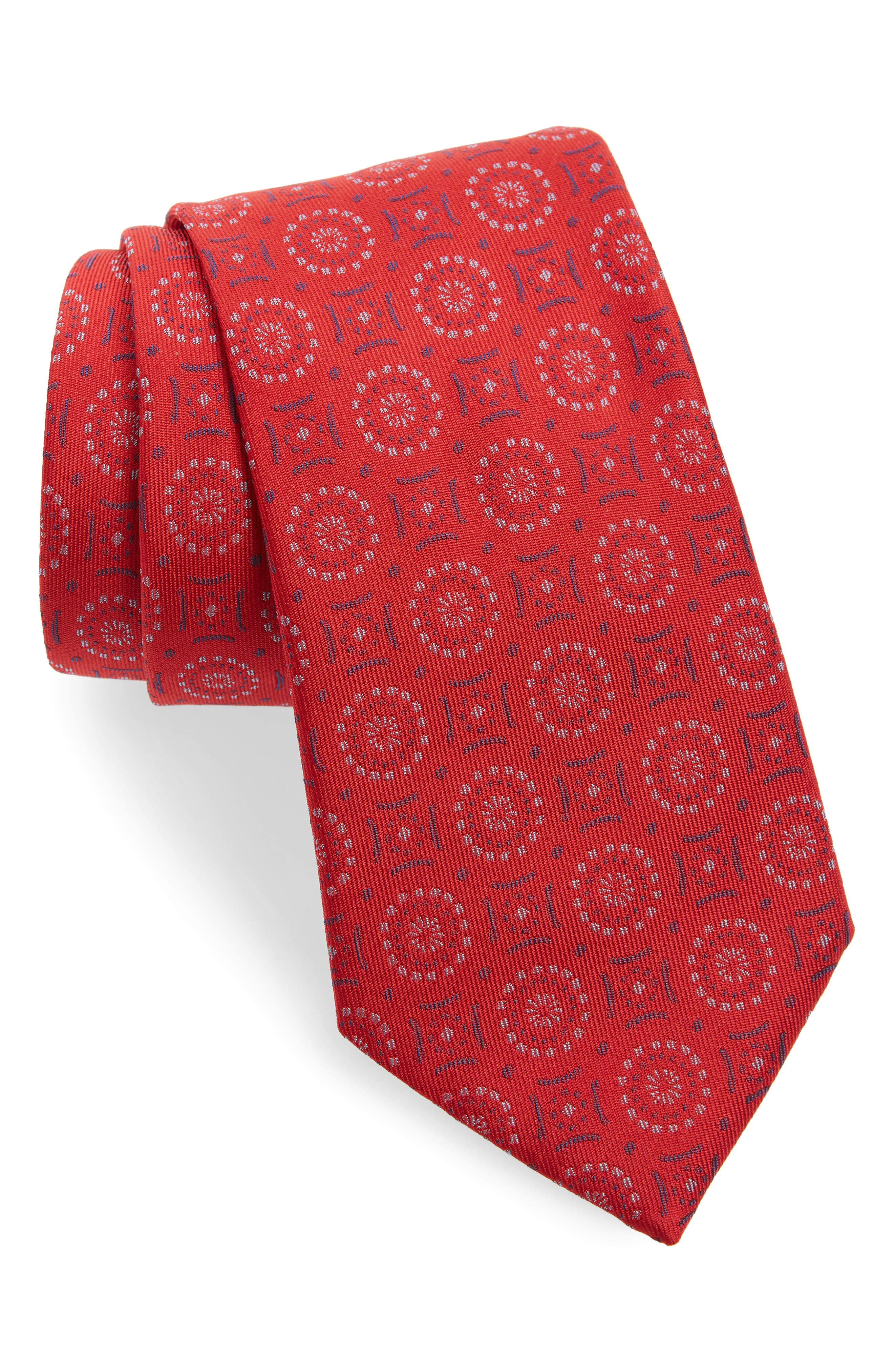 Geometric Silk Tie,                         Main,                         color, 614