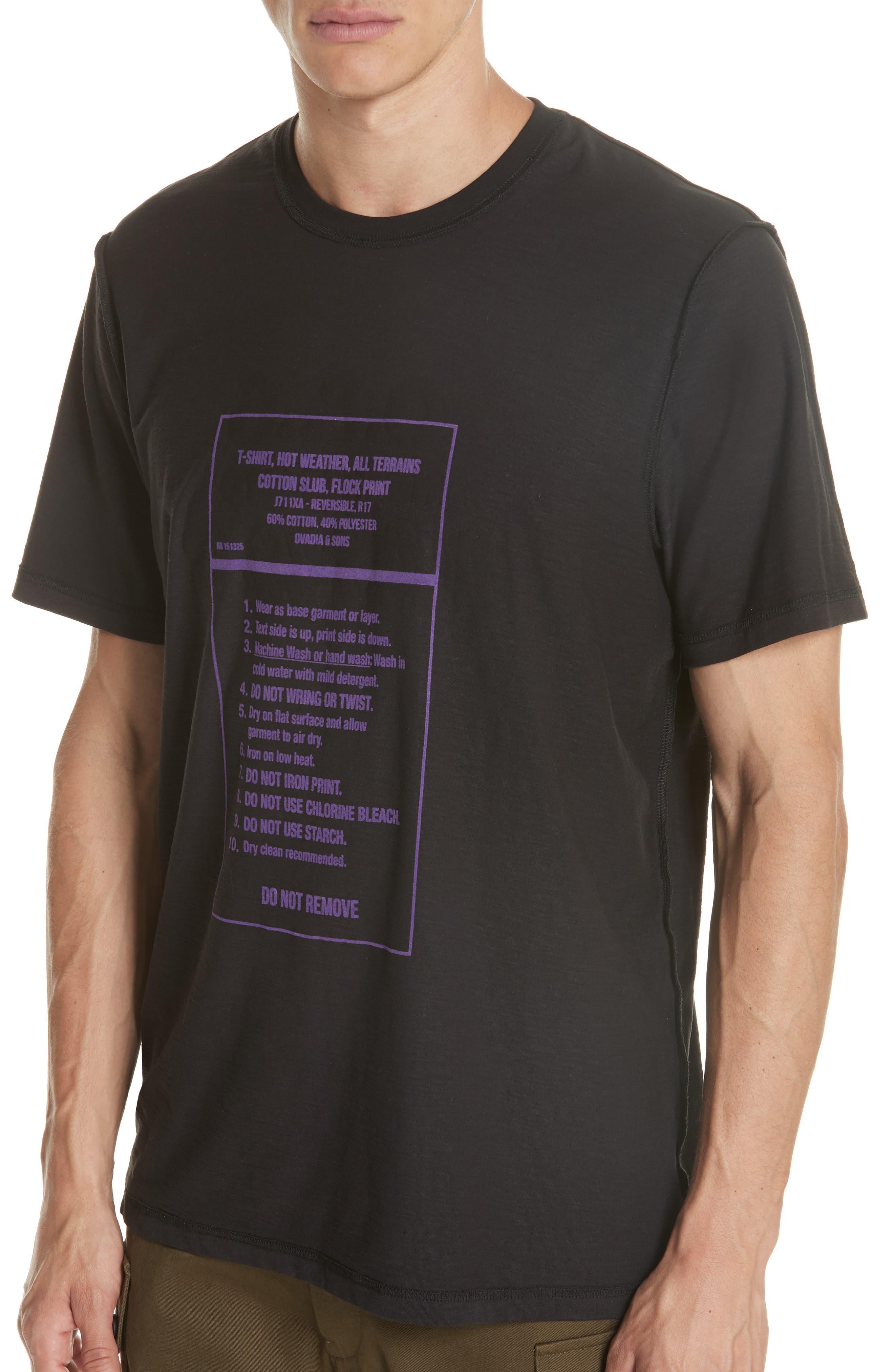 Panic Reversible Graphic T-Shirt,                             Alternate thumbnail 2, color,                             BLACK