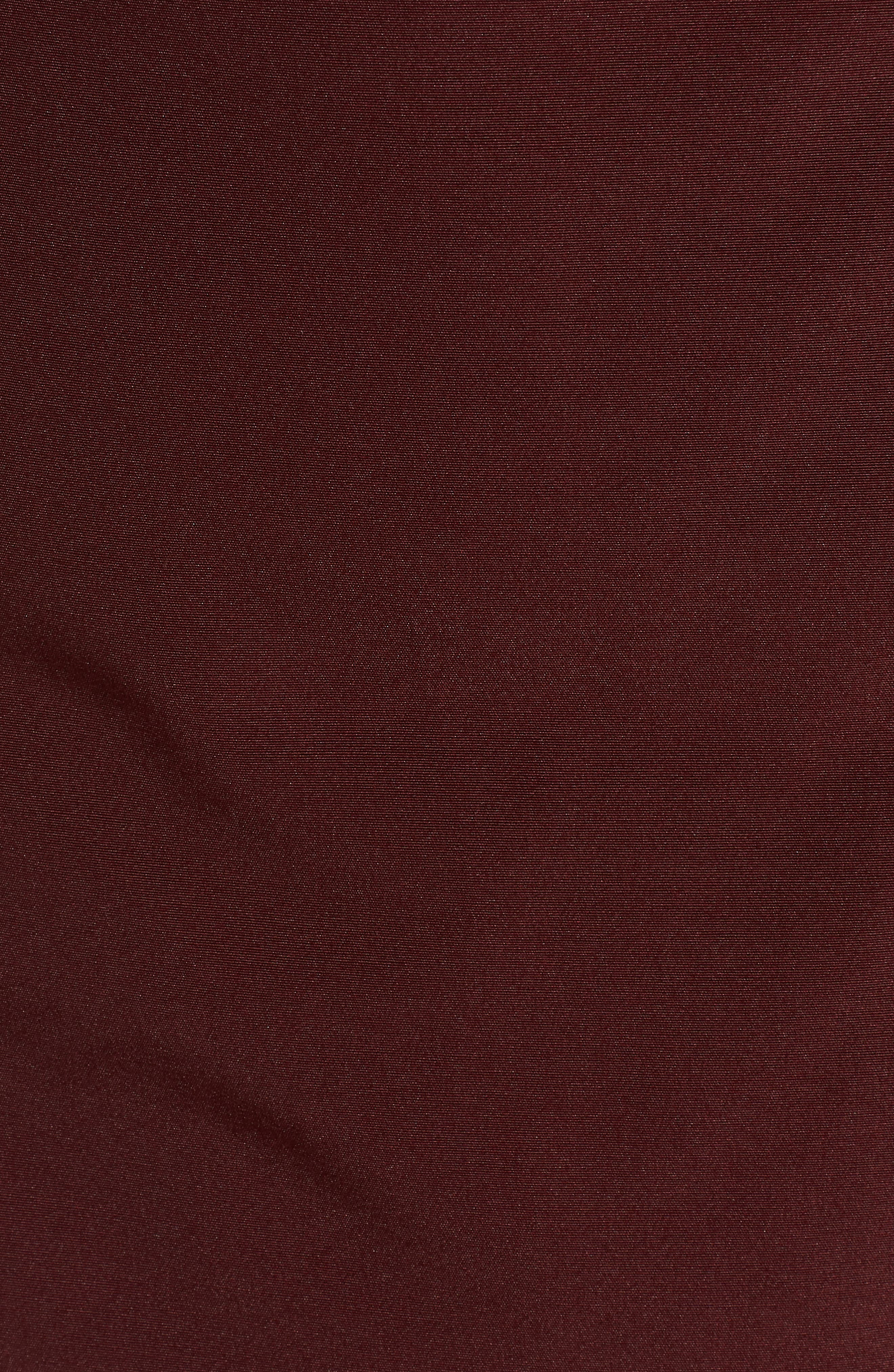 SAM EDELMAN,                             Faux Fur Trim Down Jacket,                             Alternate thumbnail 7, color,                             BURGUNDY