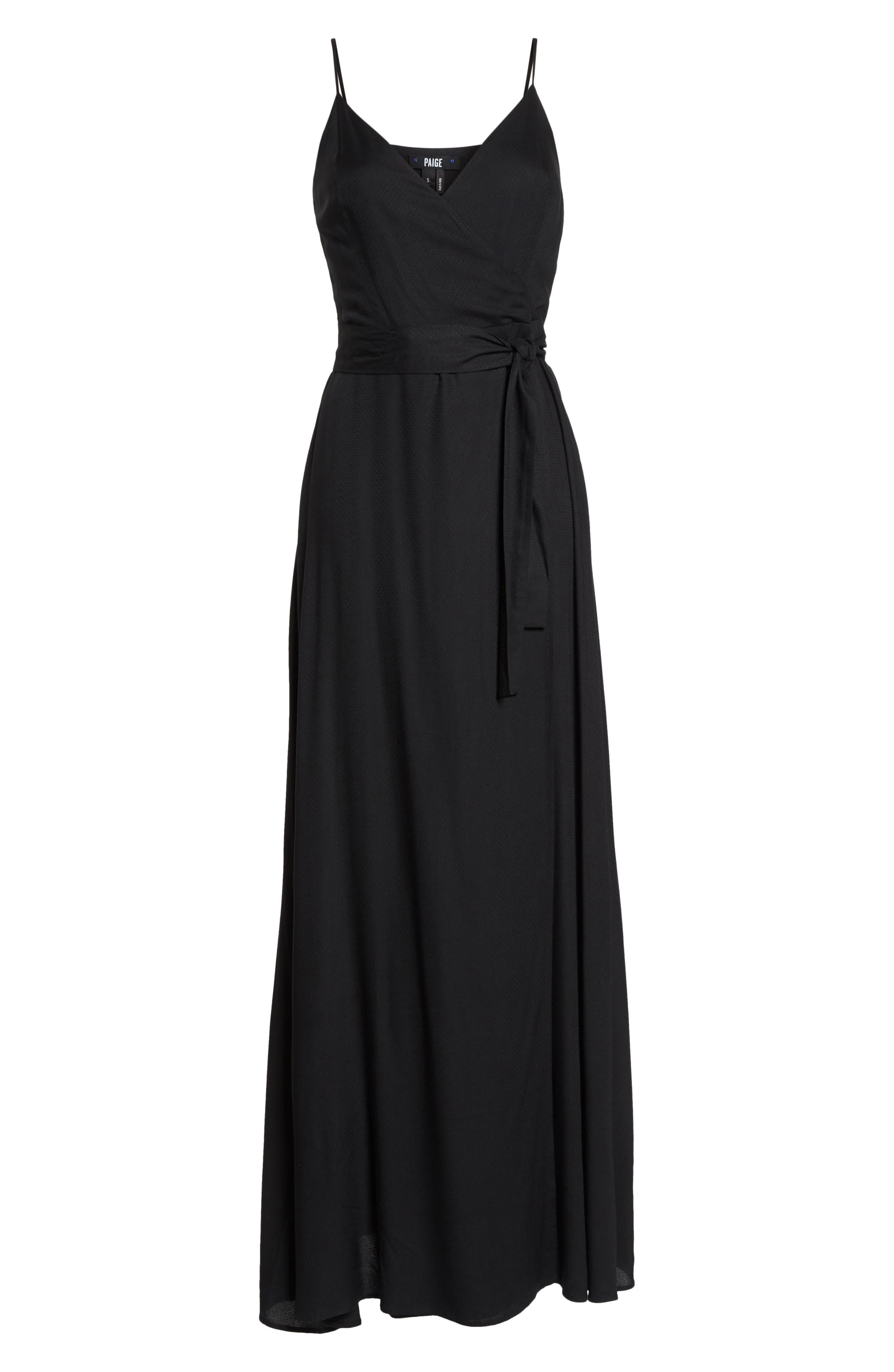 Regina Sleeveless Maxi Dress,                             Alternate thumbnail 7, color,                             001