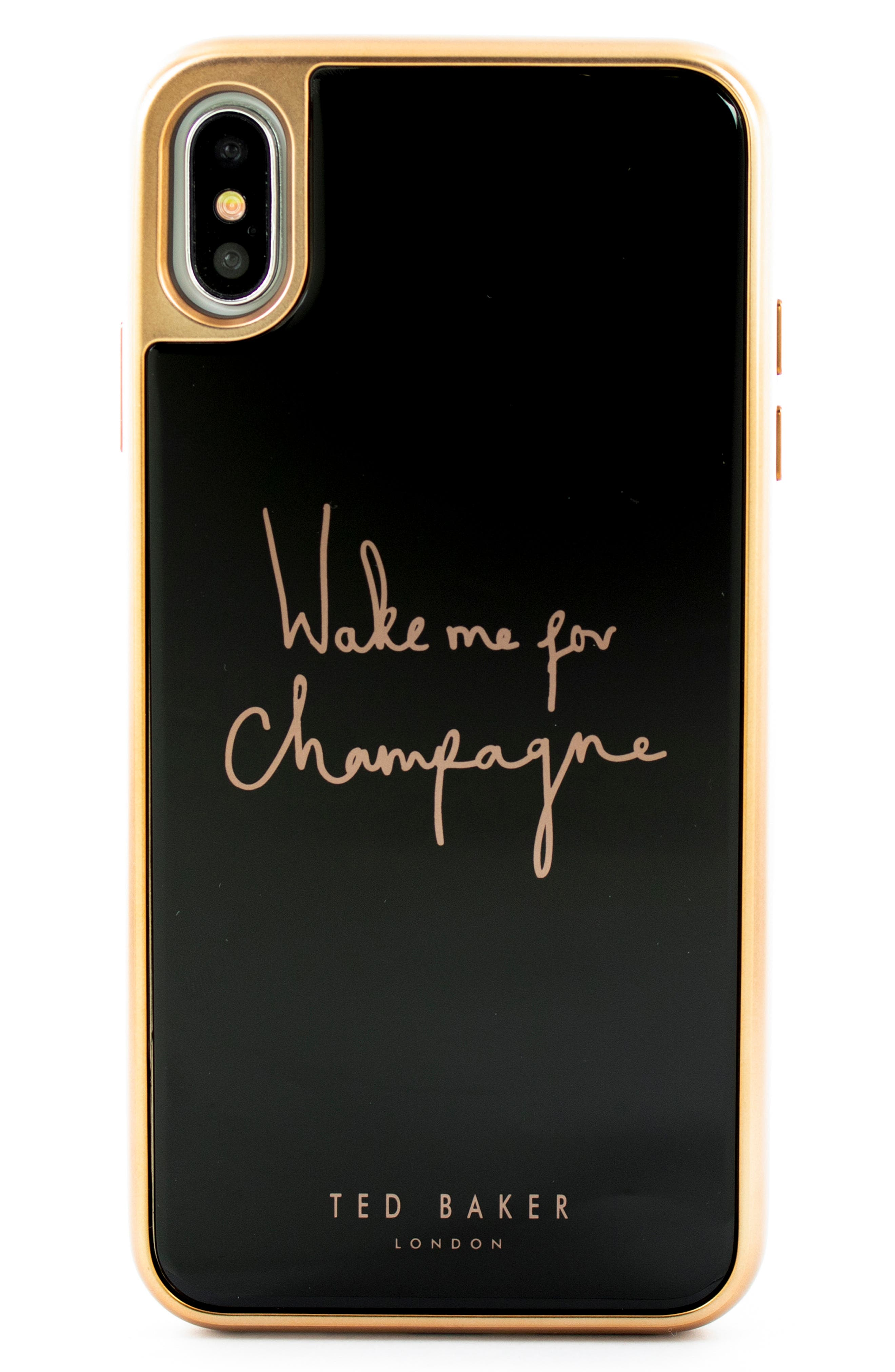 TED BAKER LONDON,                             Champagne iPhone X/Xs/Xs Max & XR Case,                             Main thumbnail 1, color,                             BLACK